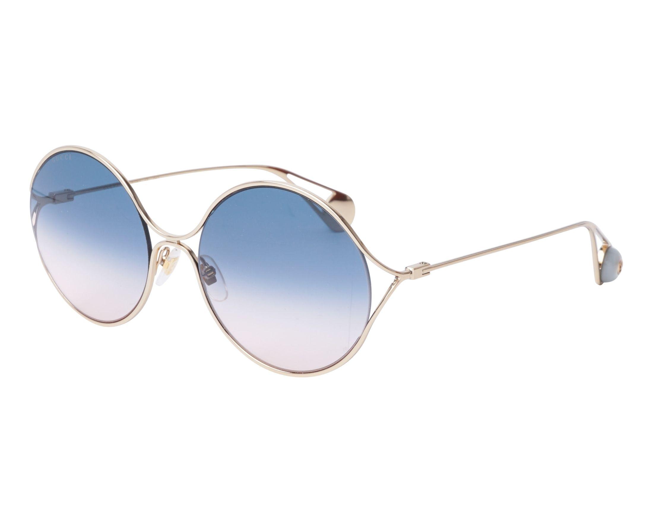 Sunglasses Gucci GG-0253-S 003 - Gold profile view fb084c1f8f