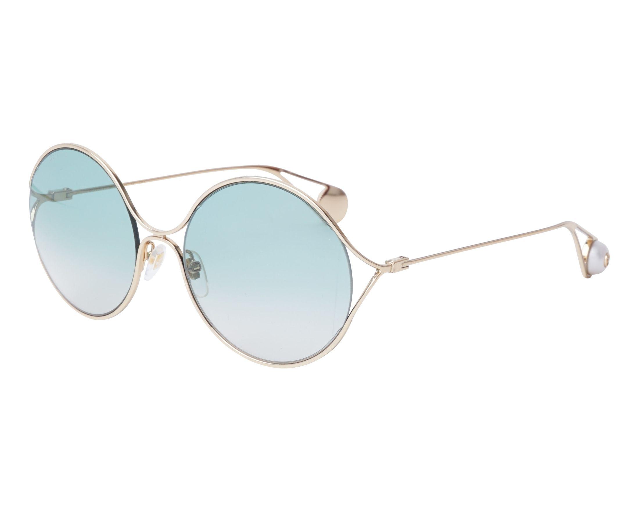 Sunglasses Gucci GG-0253-S 004 58-20 Gold profile view c7fa47c209