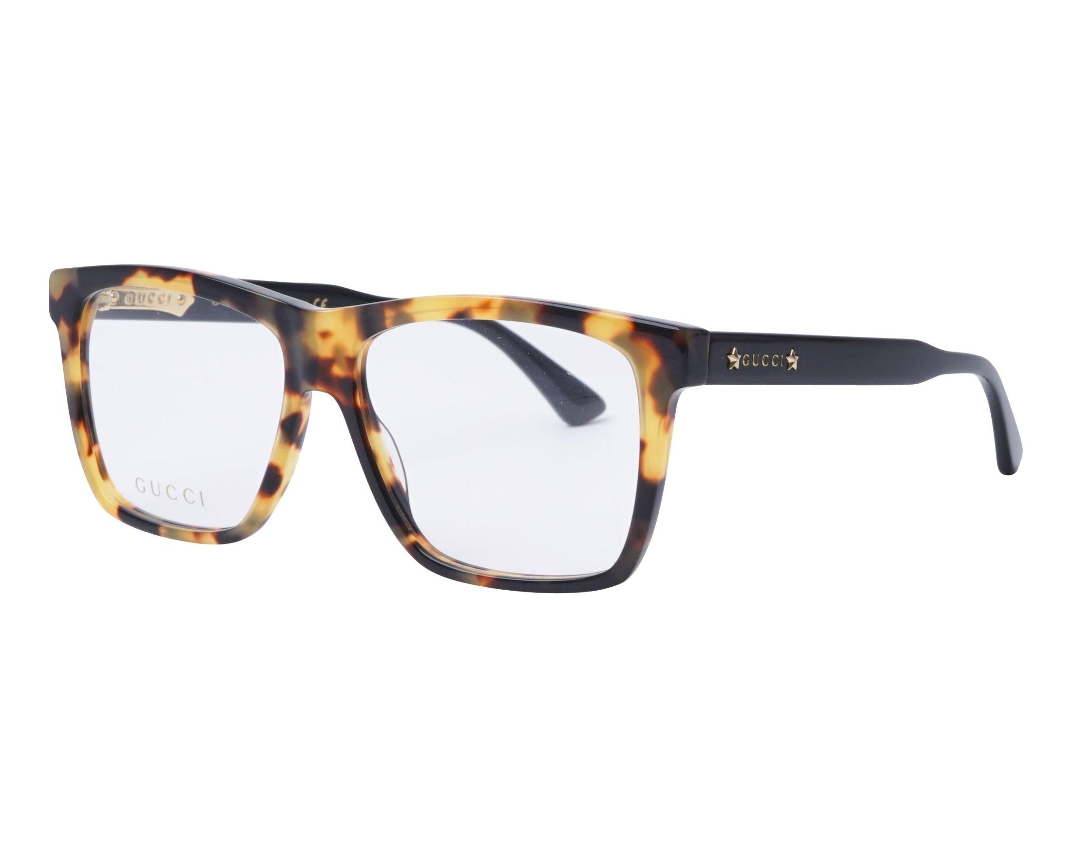 a23fd7e5dc4 eyeglasses Gucci GG-0268-O 004 55-14 Brown Black profile view