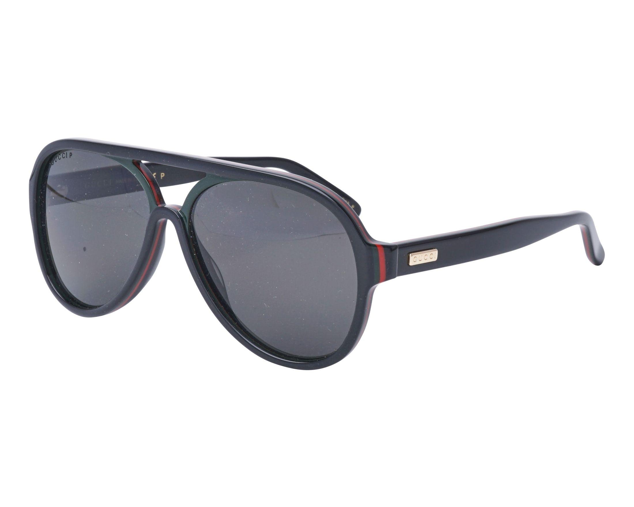c9679c4731e Sunglasses Gucci GG-0270-S 001 57-14 Black Green profile view