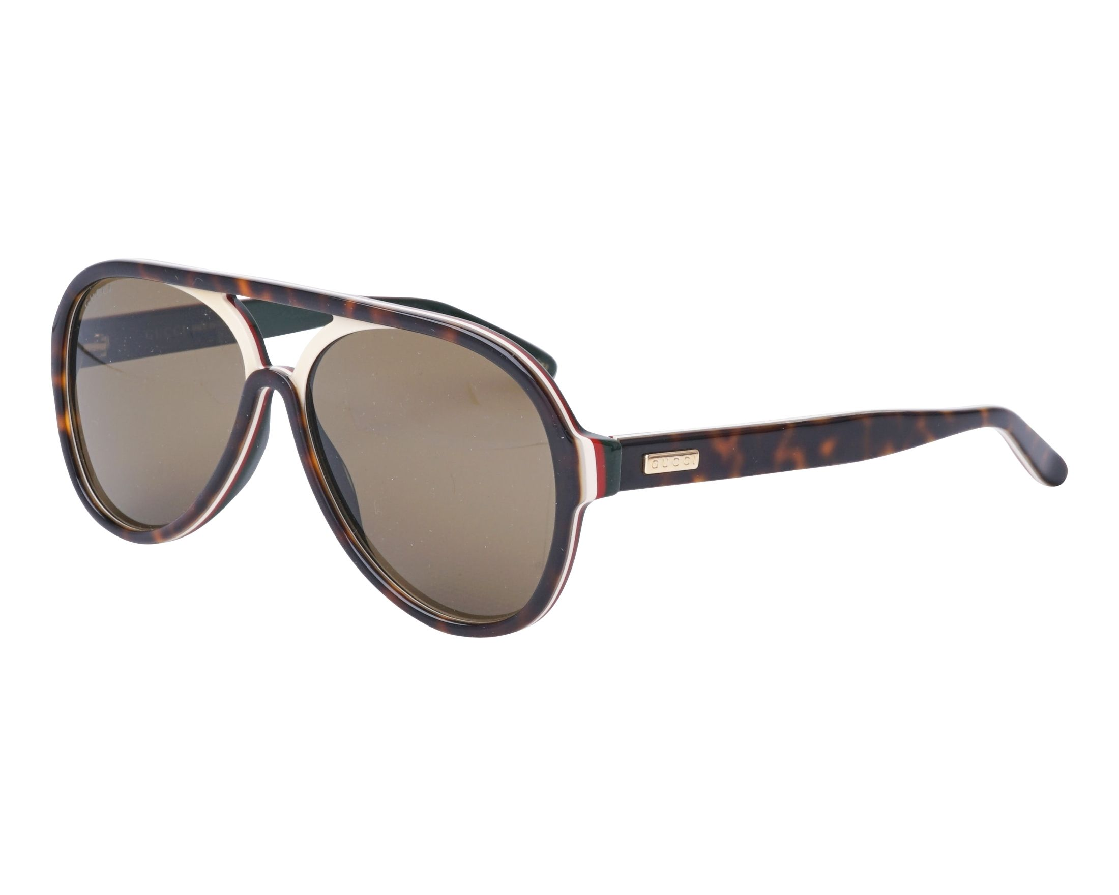 a8510cb386f Sunglasses Gucci GG-0270-S 003 57-14 Havana Beige profile view