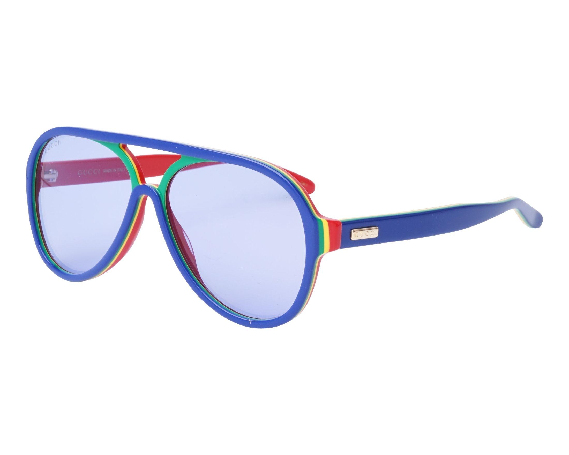 9939d7b6ca8 Sunglasses Gucci GG-0270-S 007 57-14 Blue Green profile view