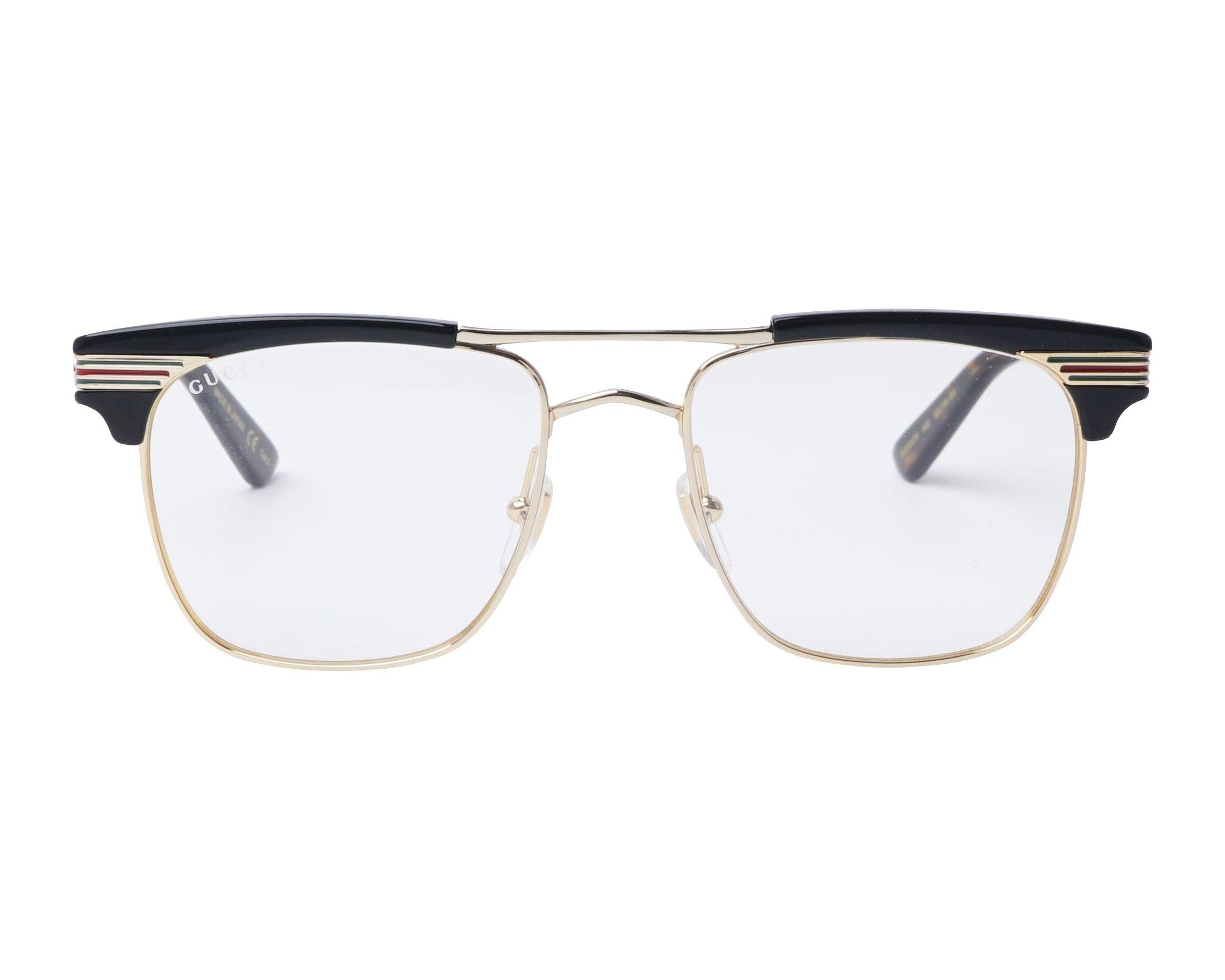 e1eb20ebf44 eyeglasses Gucci GG-0287-S 002 52-18 Gold Black front view