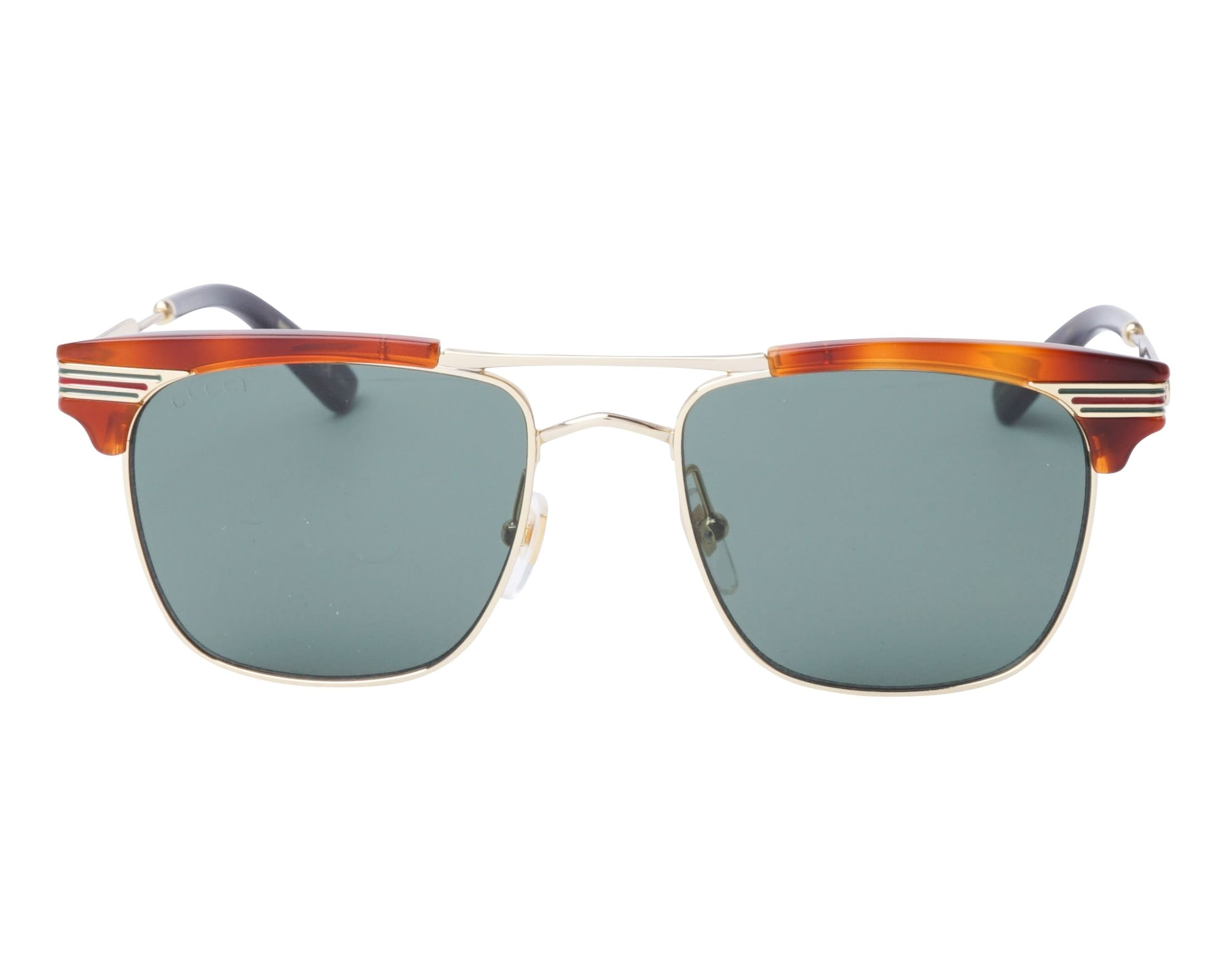 408a7543ffc Sunglasses Gucci GG-0287-S 004 52-18 Havana Gold front view