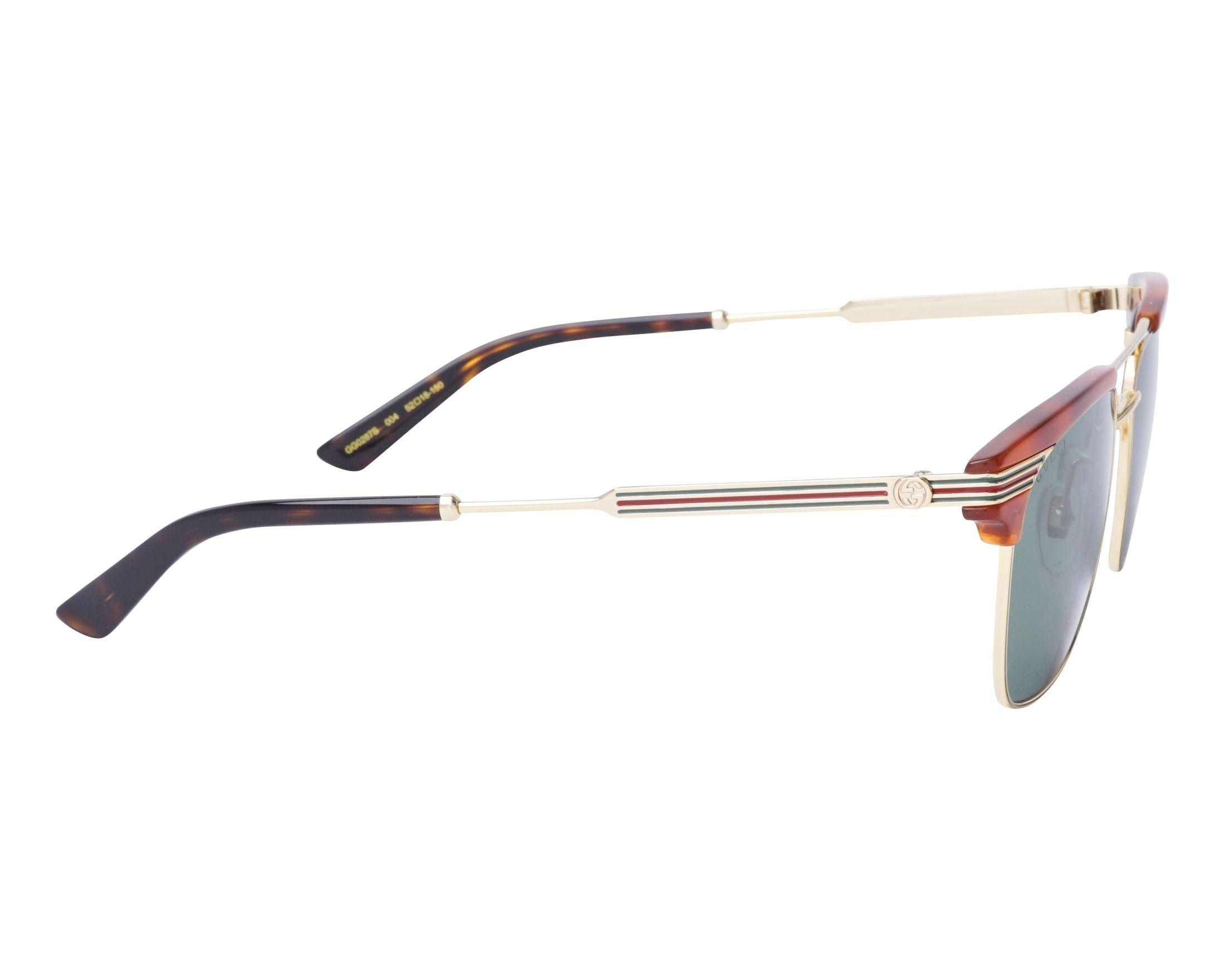 6bf35800cdb Sunglasses Gucci GG-0287-S 004 52-18 Havana Gold side view
