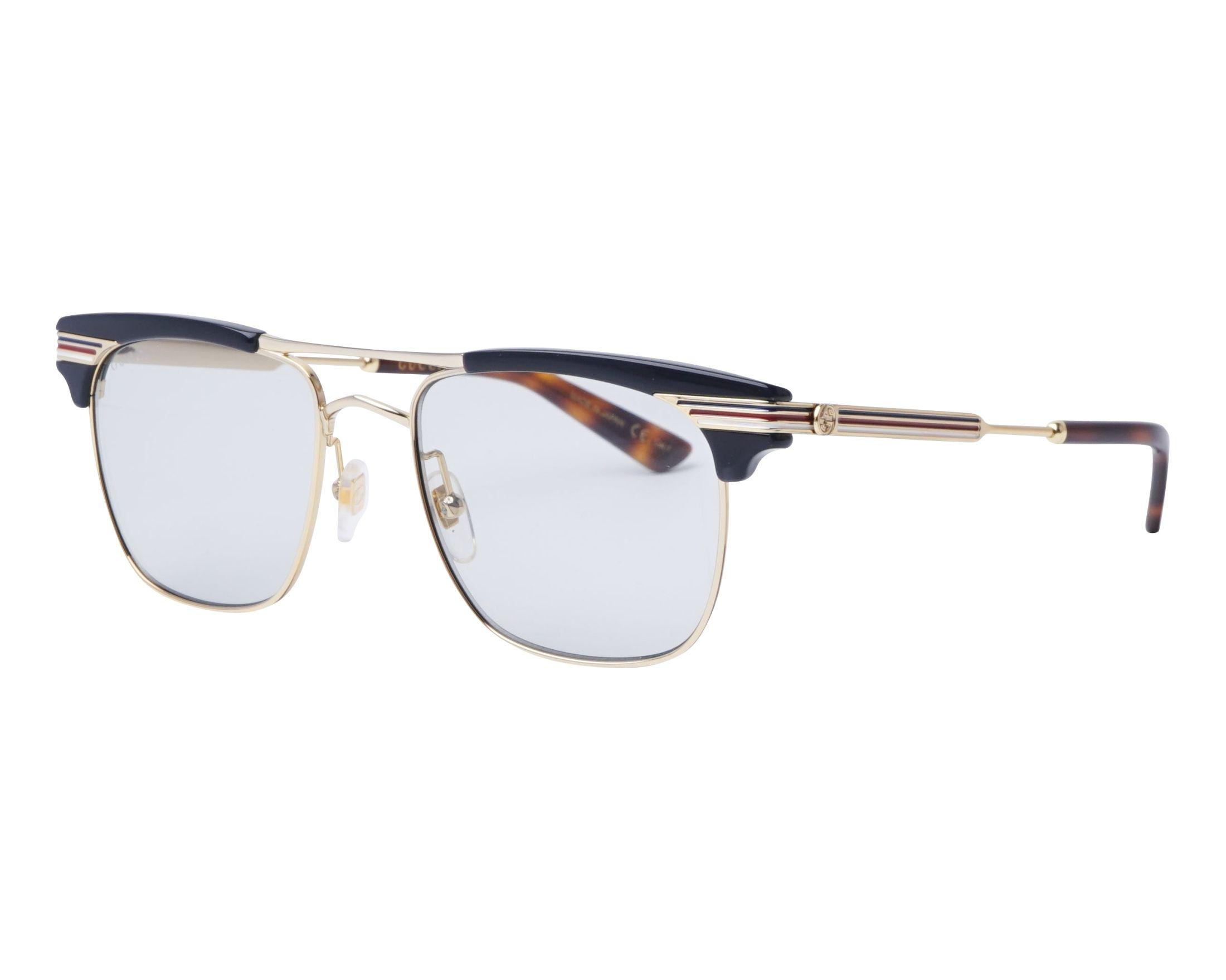 77b6e0d446b eyeglasses Gucci GG-0287-S 006 52-18 Gold Blue profile view