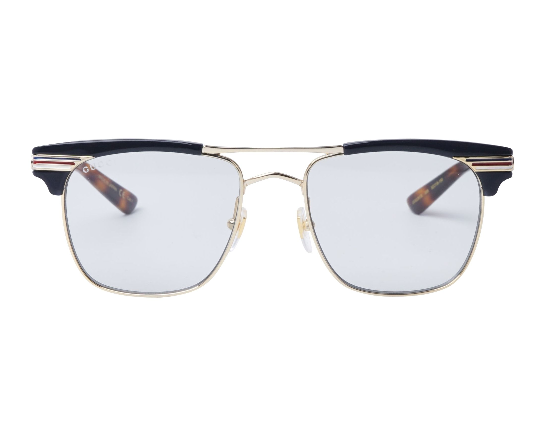 e78bcd323fe eyeglasses Gucci GG-0287-S 006 52-18 Gold Blue front view