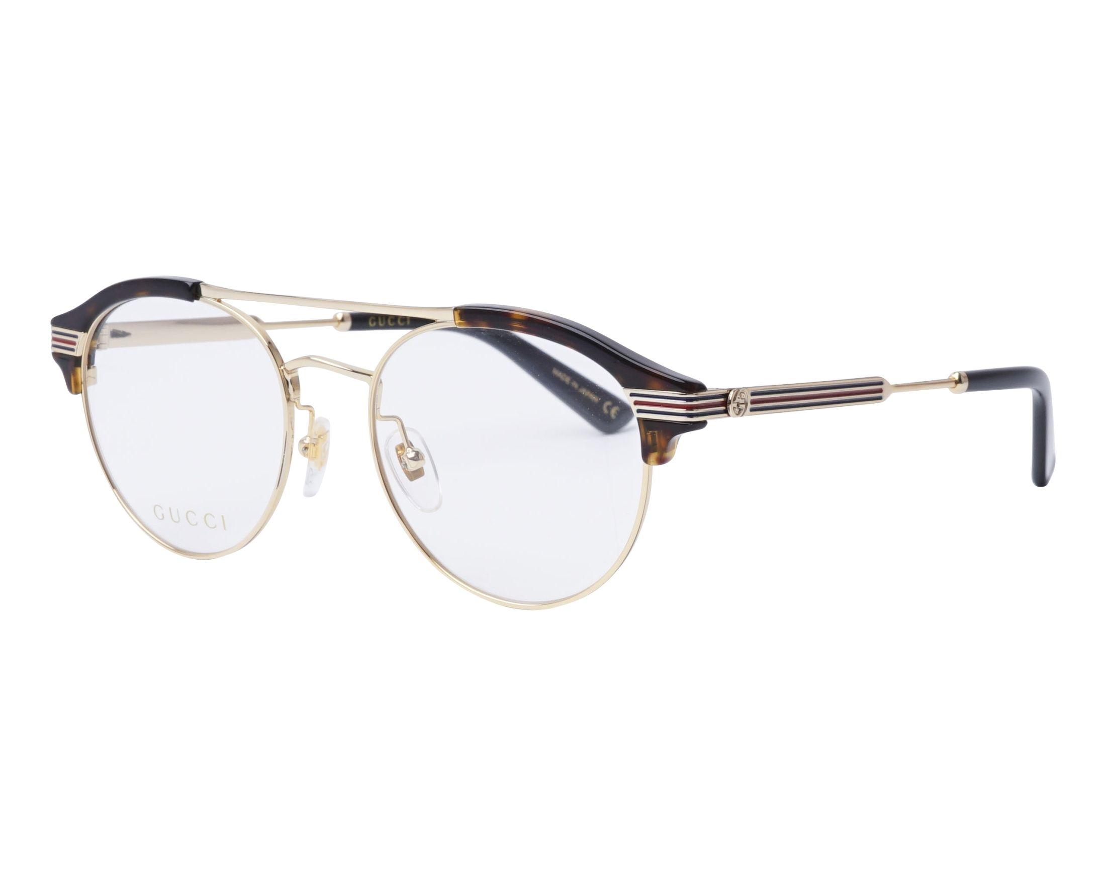 Gucci Eyeglasses Gold GG-0289-O 002 - Visionet US
