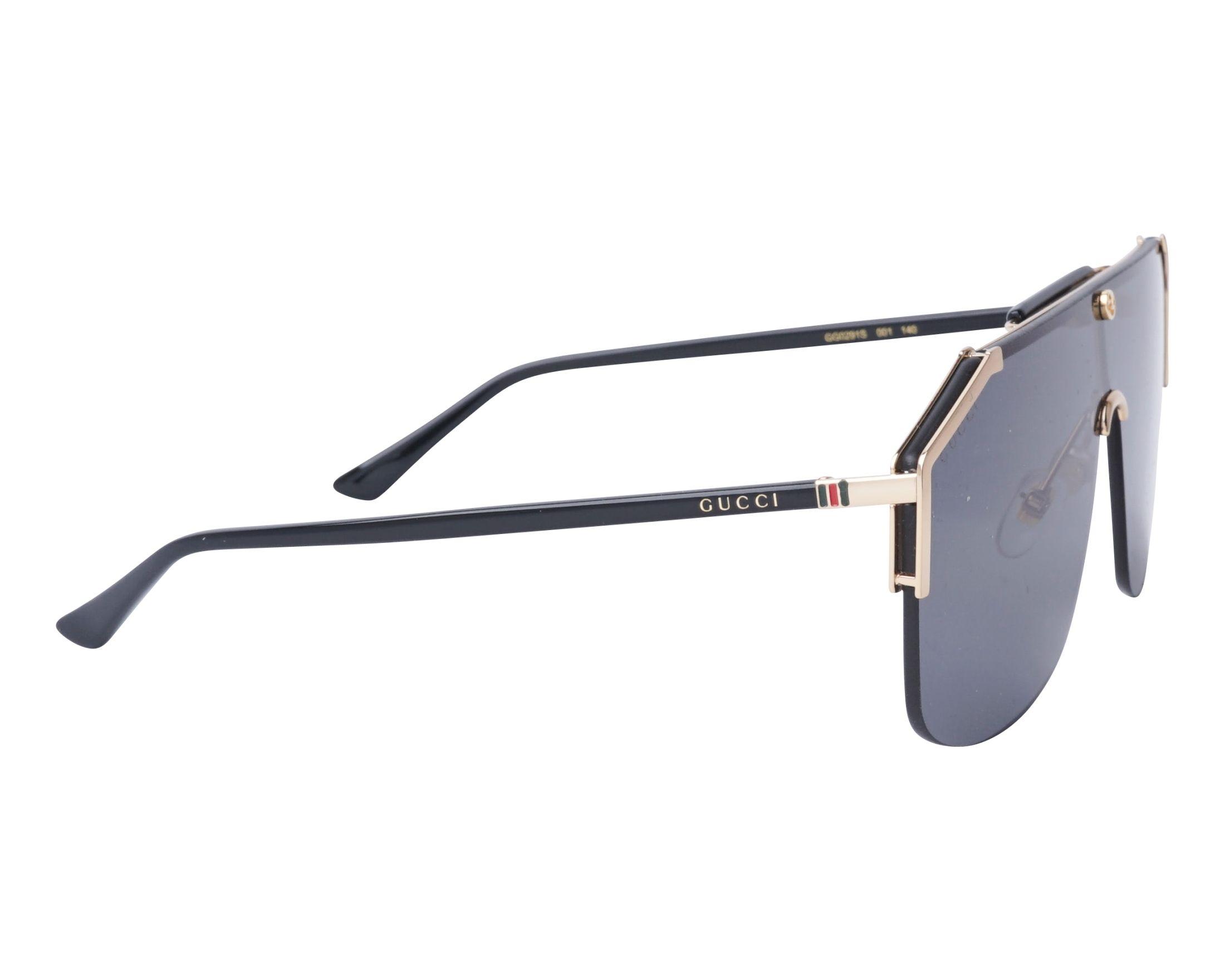 1e0d7921c7 Sunglasses Gucci GG-0291-S 001 - Gold Black side view