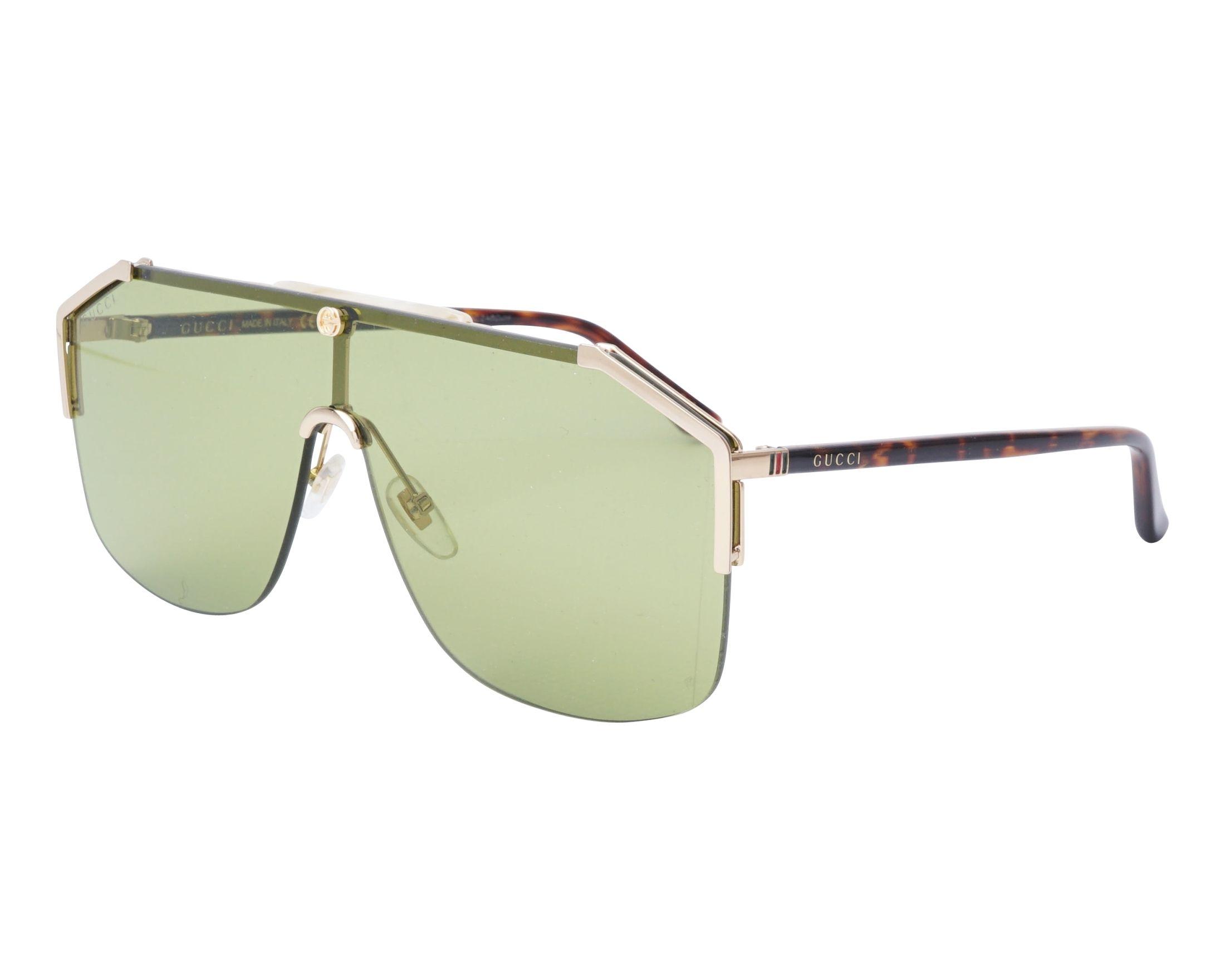0d5cf57df3 Sunglasses Gucci GG-0291-S 004 99-1 Gold Havana profile view