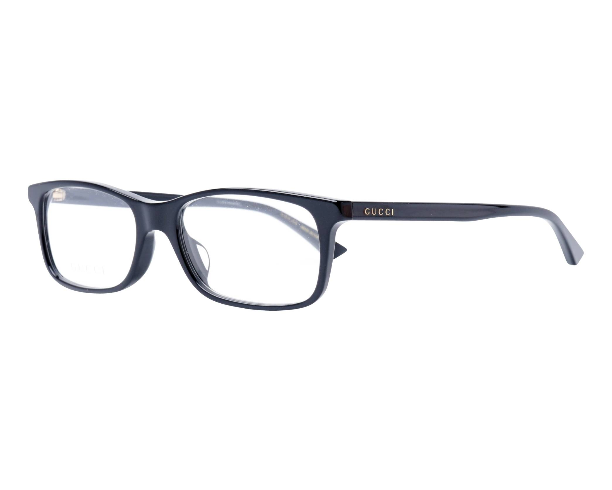 fd0f02c237e eyeglasses Gucci GG-0408-OA 001 53-17 Black profile view