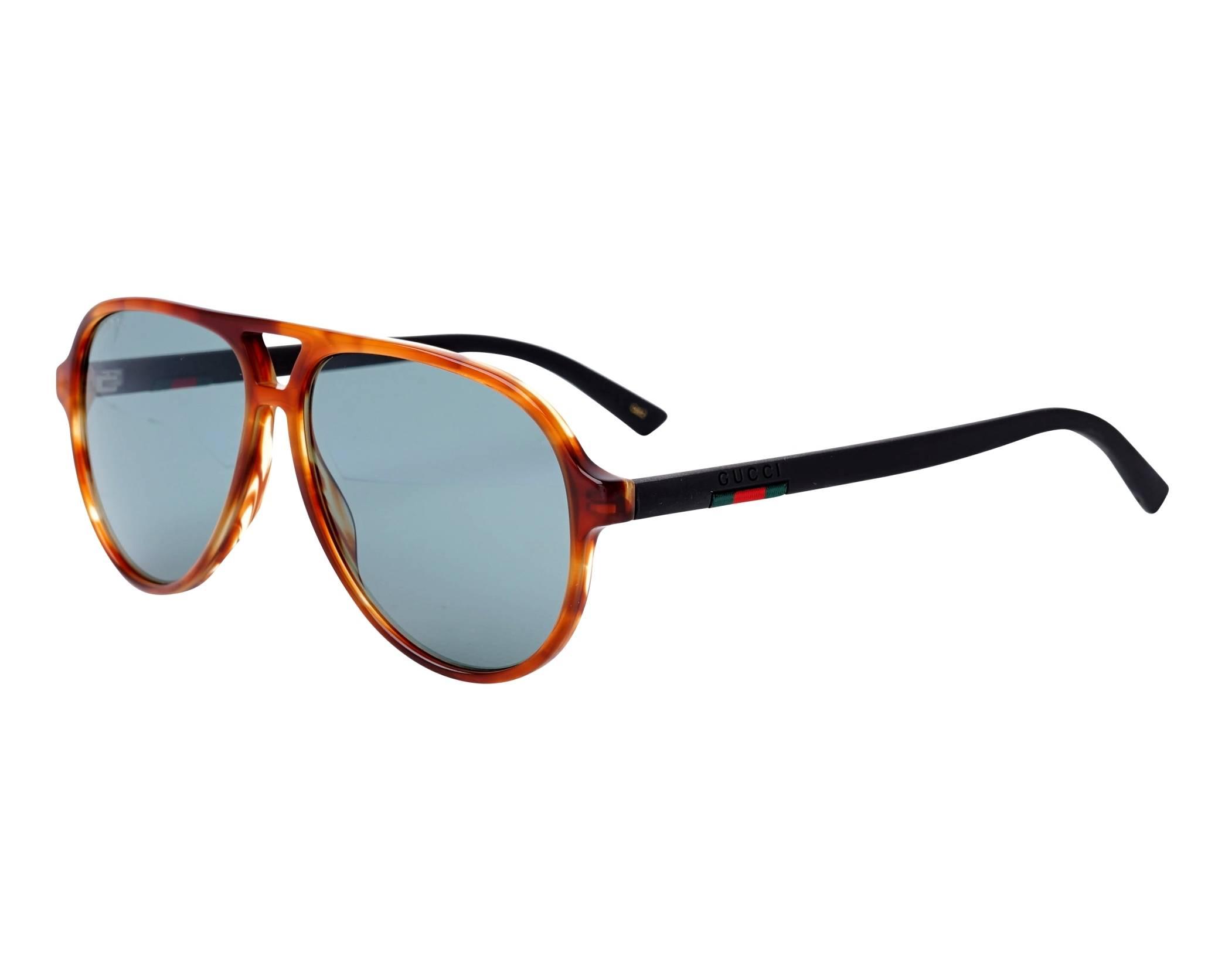 0f8b7e66b11df Sunglasses Gucci GG-0423-S 005 58-13 Havana Black profile view
