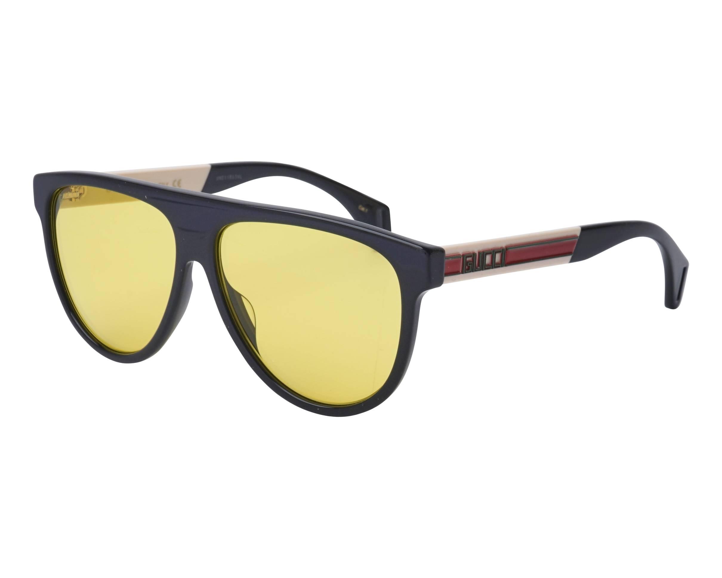 d0a283f4c8a Sunglasses Gucci GG-0462-S 001 58-13 Black White profile view