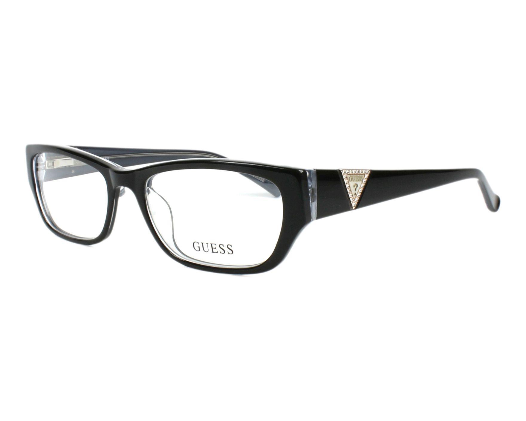 eyeglasses Guess GU-2387 BLK 54-17 Black Crystal profile view