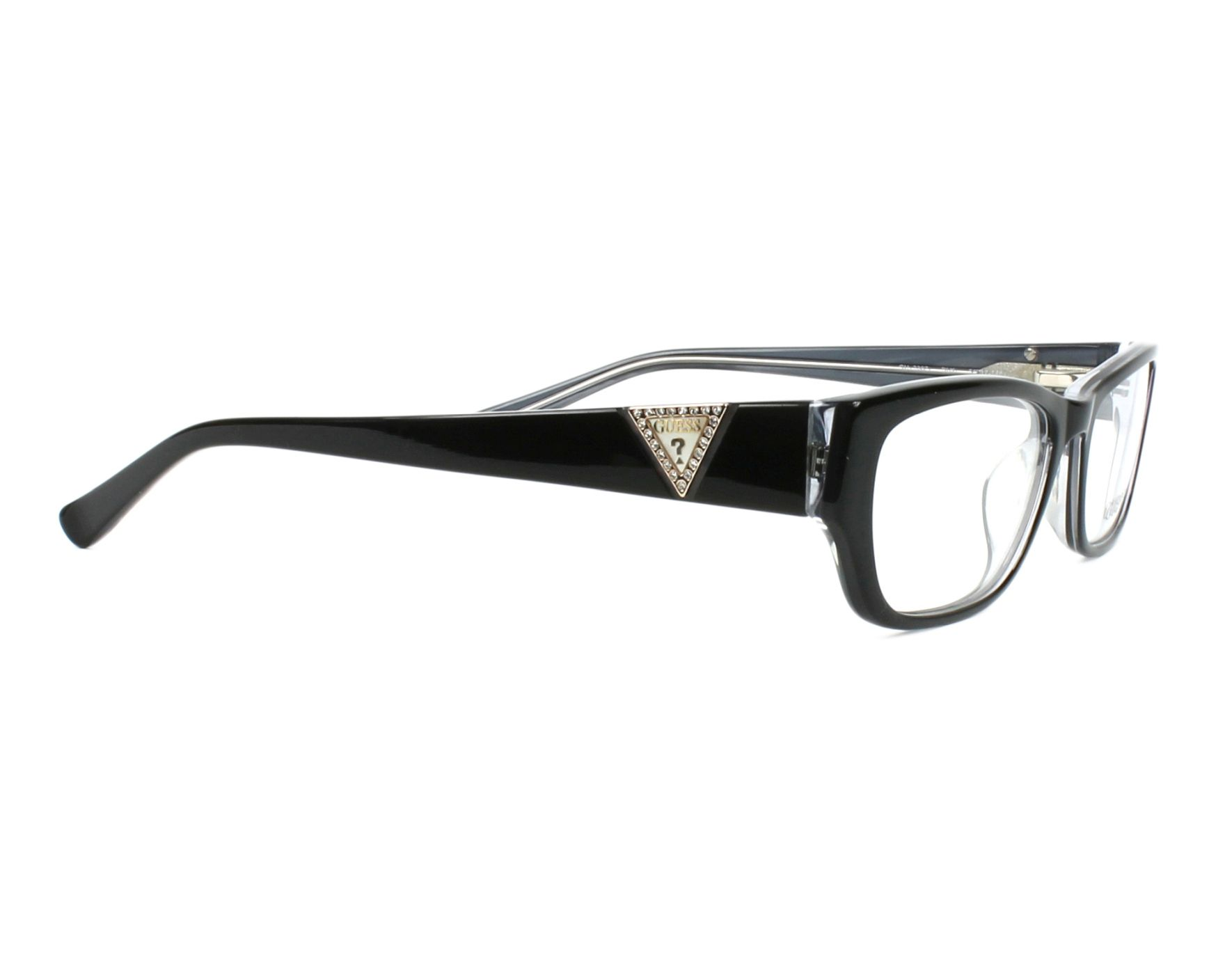 eyeglasses Guess GU-2387 BLK 54-17 Black Crystal side view