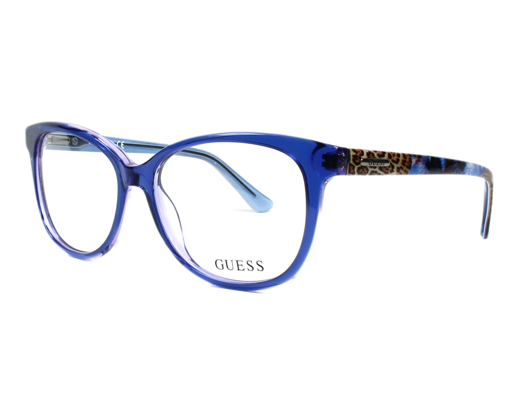 eyeglasses Guess GU-2505 090 52-14 Blue Brown profile view