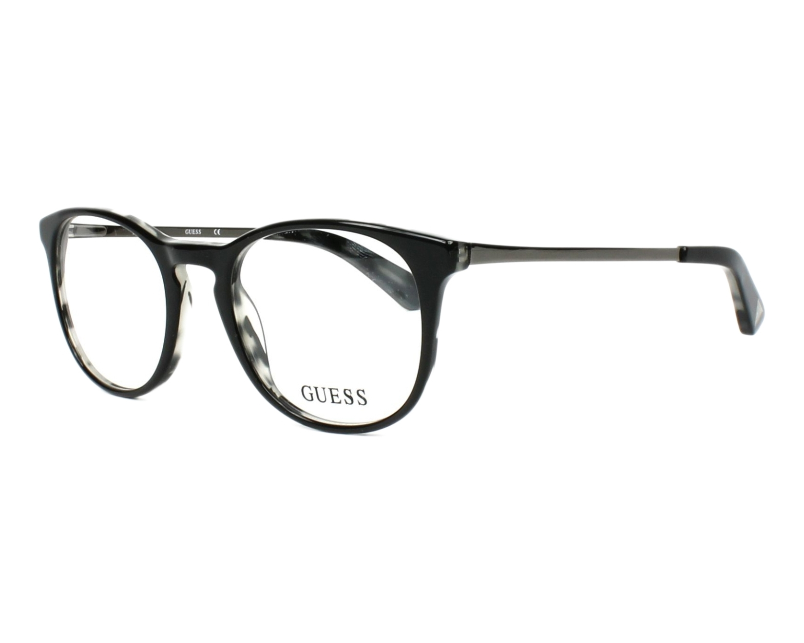 eyeglasses Guess GU-2531 001 49-20 Black Gun profile view