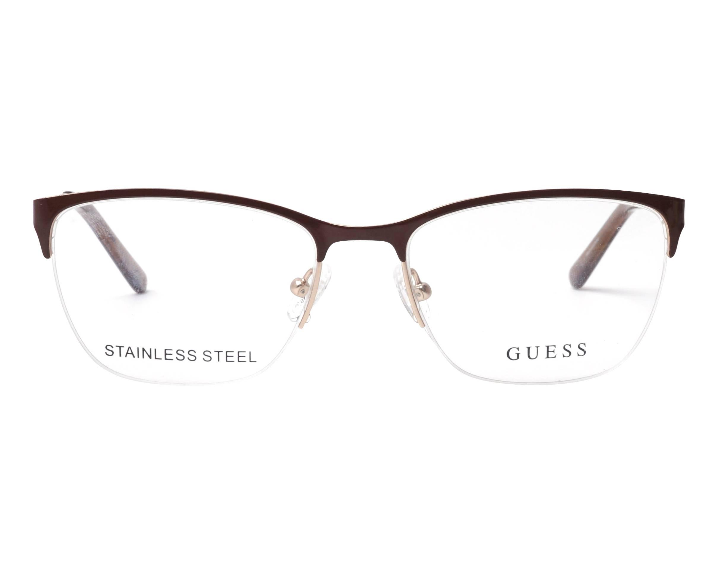 Guess Brillengestelle GU2510-48-54 Rechteckig Brillengestelle 54 Rot