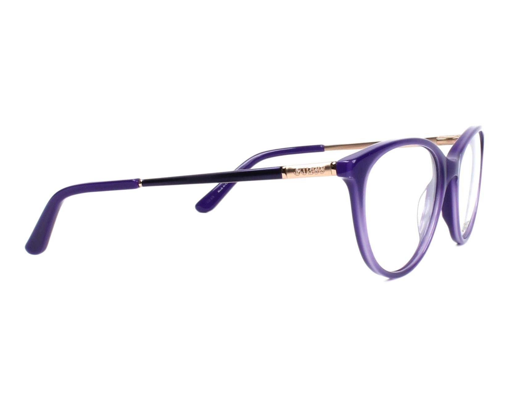 70cdef3c4ea eyeglasses Guess GU-2565 081 52-17 Purple Copper side view