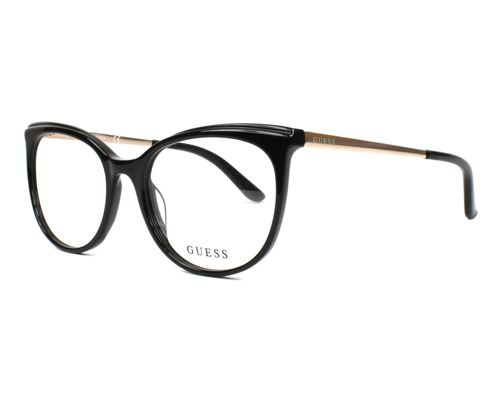 eyeglasses Guess GU-2640 005 53-17 Black Gold profile view