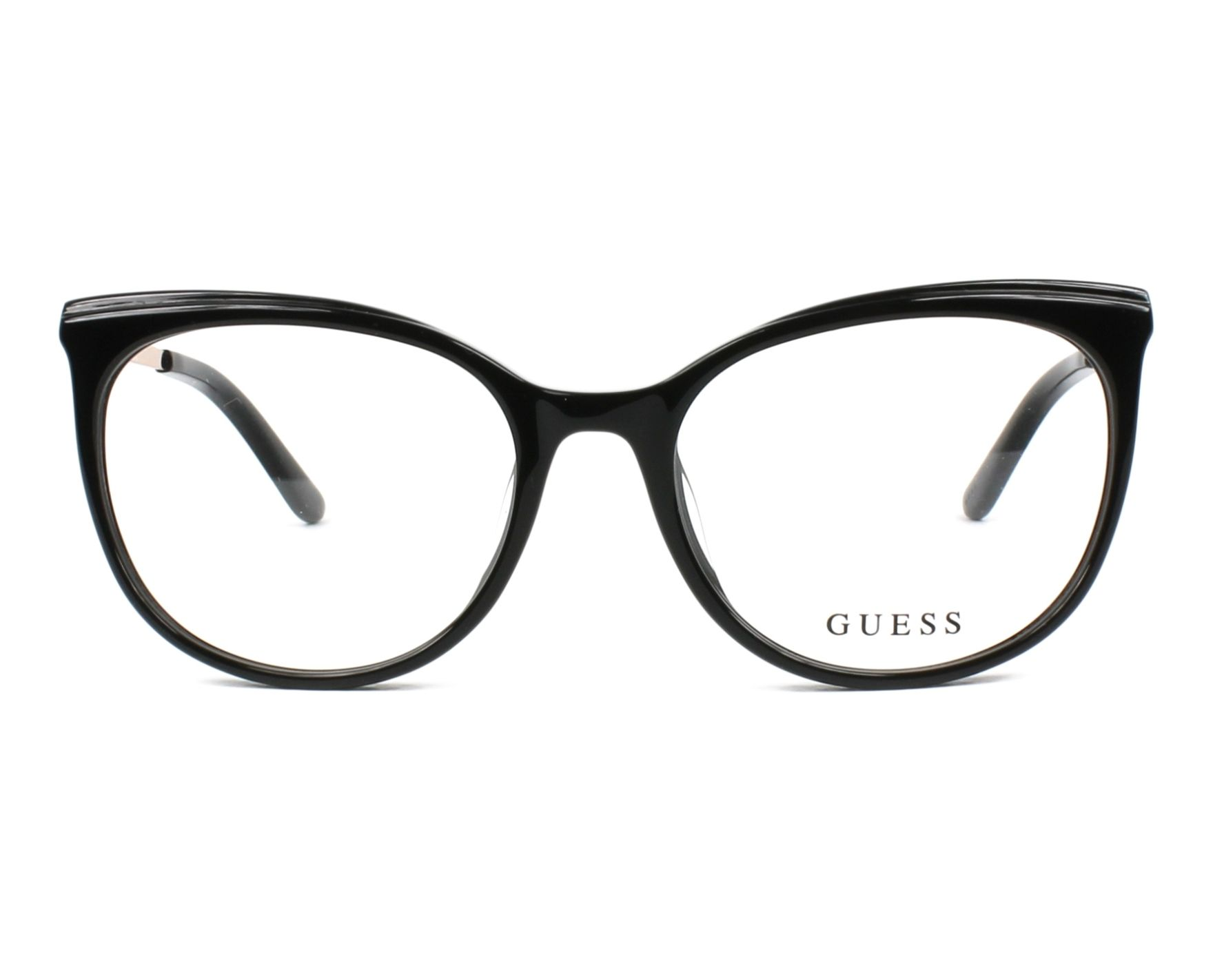 eyeglasses Guess GU-2640 005 53-17 Black Gold front view