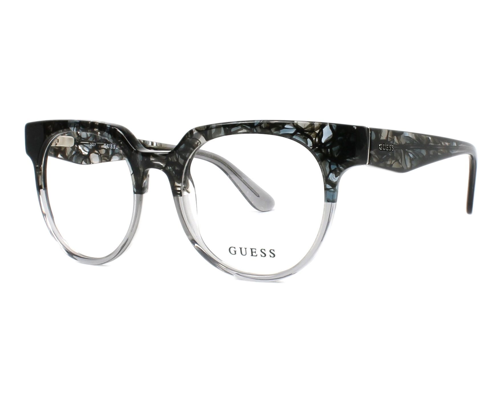 eyeglasses Guess GU-2652 020 50-18 Black Crystal profile view