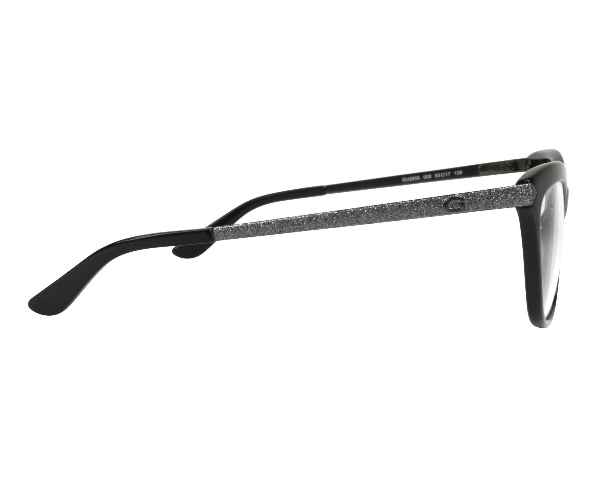 b79ff2dde3e eyeglasses Guess GU-2655 005 53-17 Black Silver side view