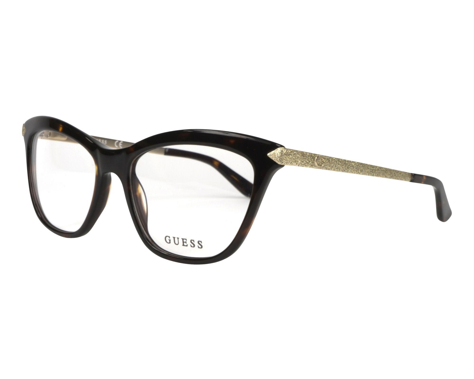 bd783004656 eyeglasses Guess GU-2655 052 53-17 Havana Gold profile view