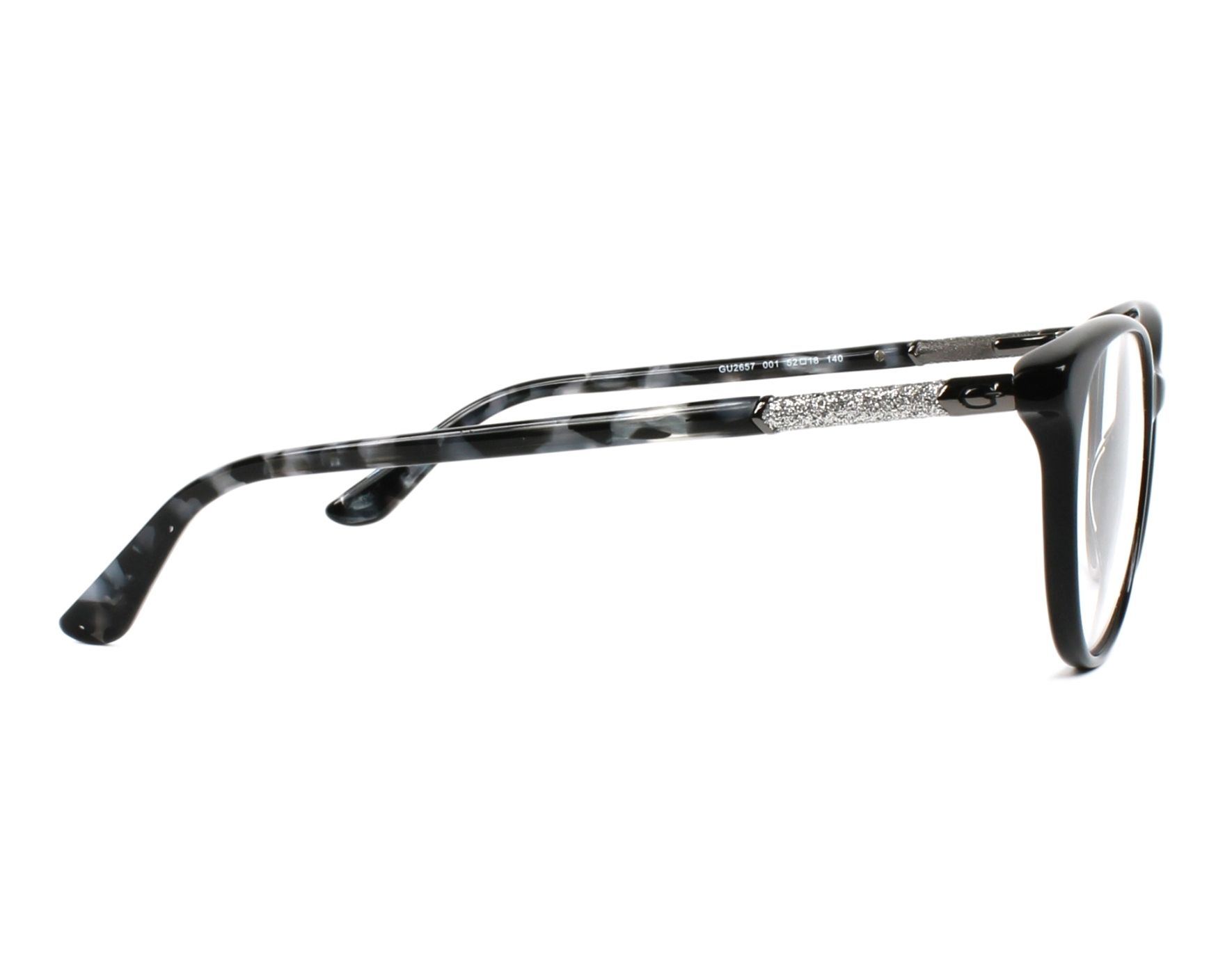 eyeglasses Guess GU-2657 001 52-18 Black Grey side view