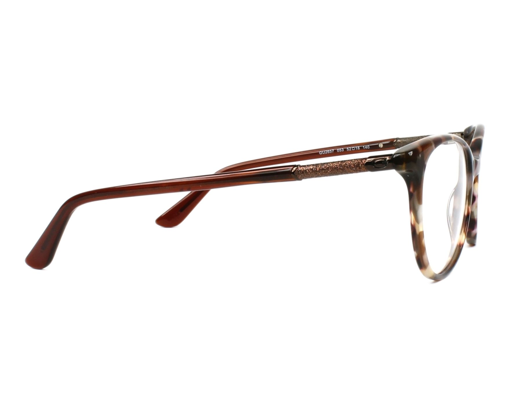 eyeglasses Guess GU-2657 053 52-18 Brown Brown side view