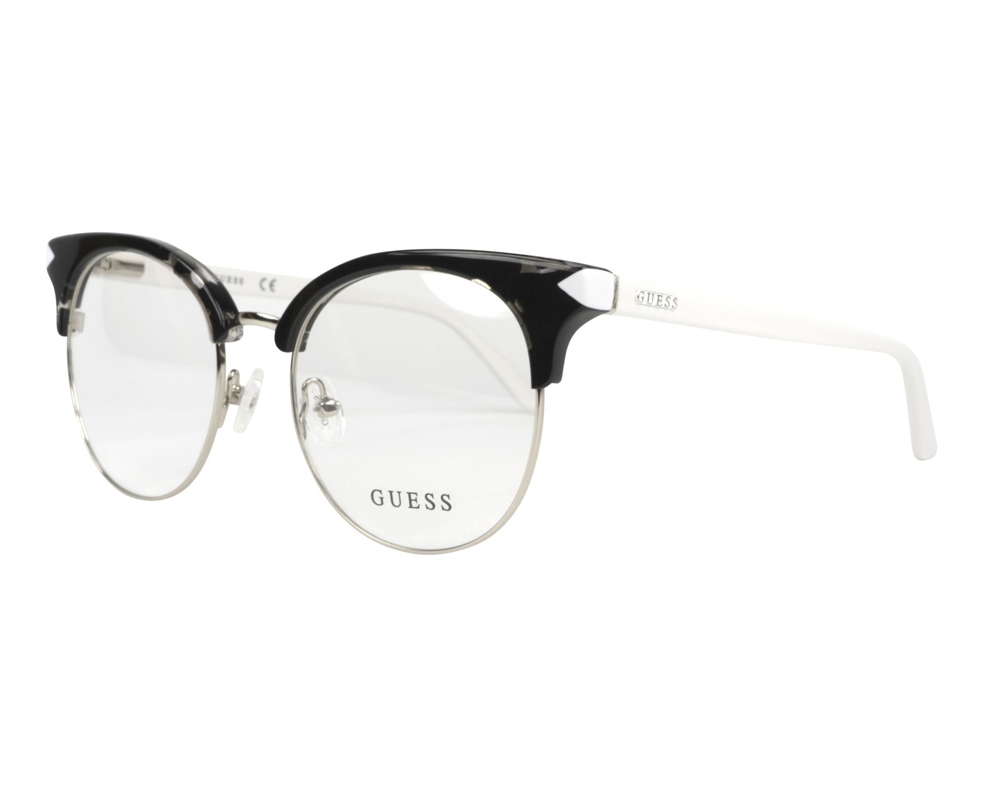 eyeglasses Guess GU-2671-V 001 49-18 Black White profile view