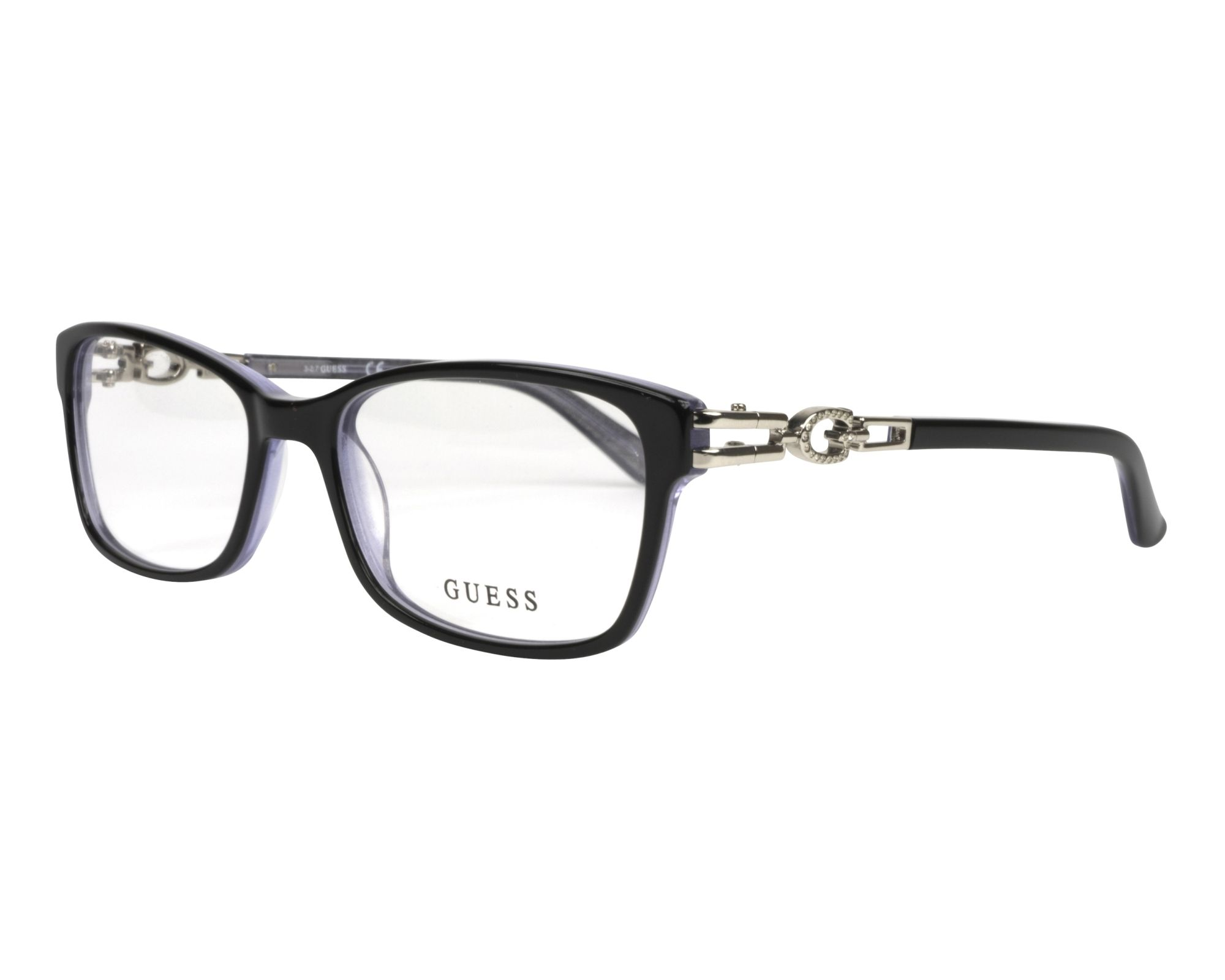 eyeglasses Guess GU-2677-V 005 50-17 Black Crystal profile view