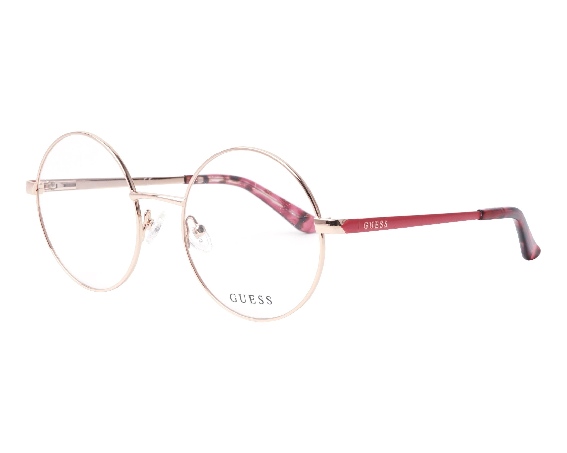 eyeglasses Guess GU-2682 028 52-20 Gold Copper Rosa profile view