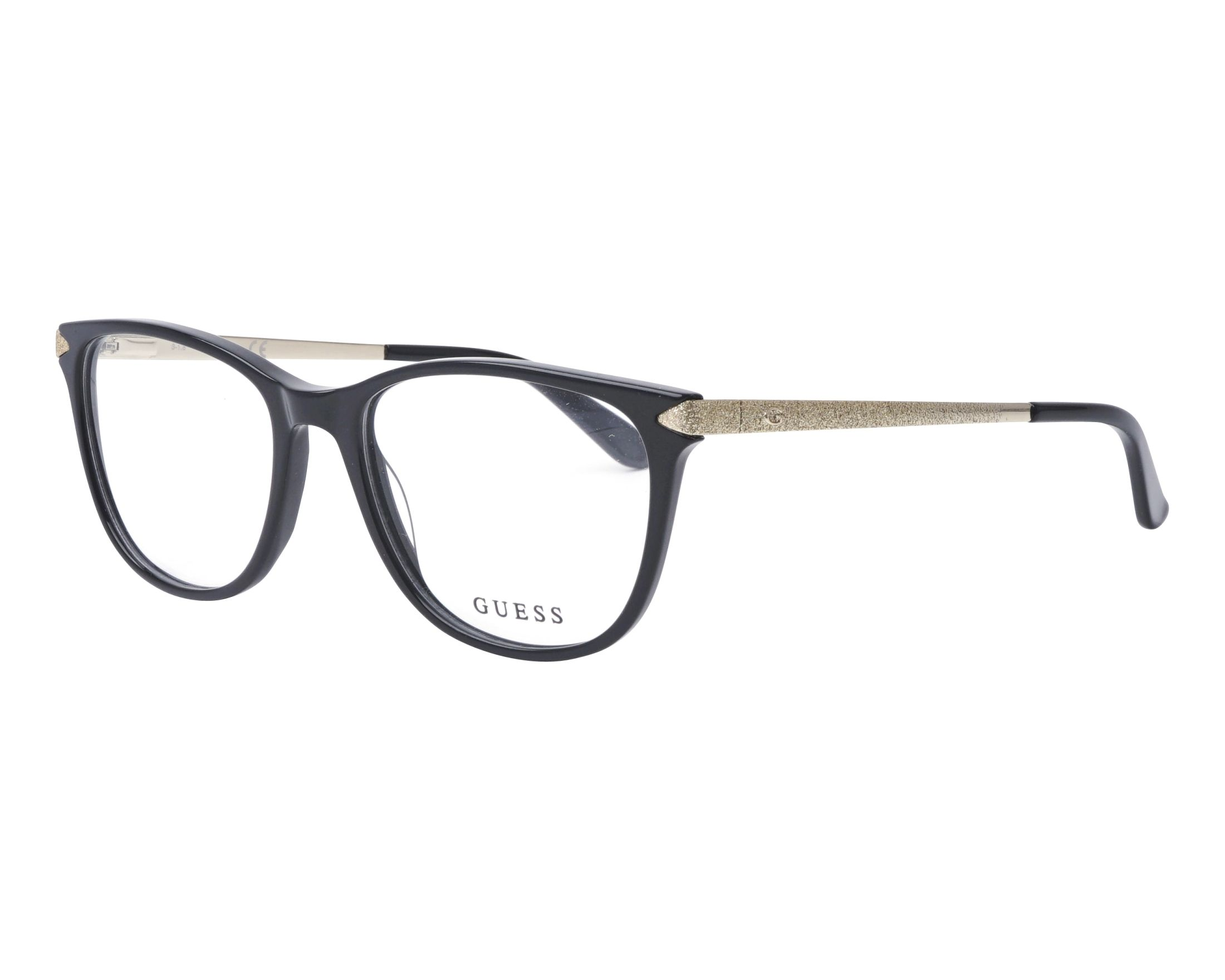eyeglasses Guess GU-2684 005 53-17 Black Gold profile view