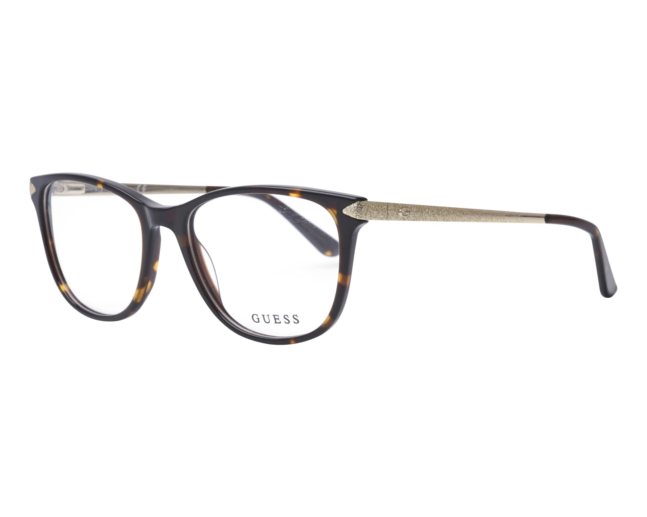 eyeglasses Guess GU-2684 052 53-17 Havana Gold profile view