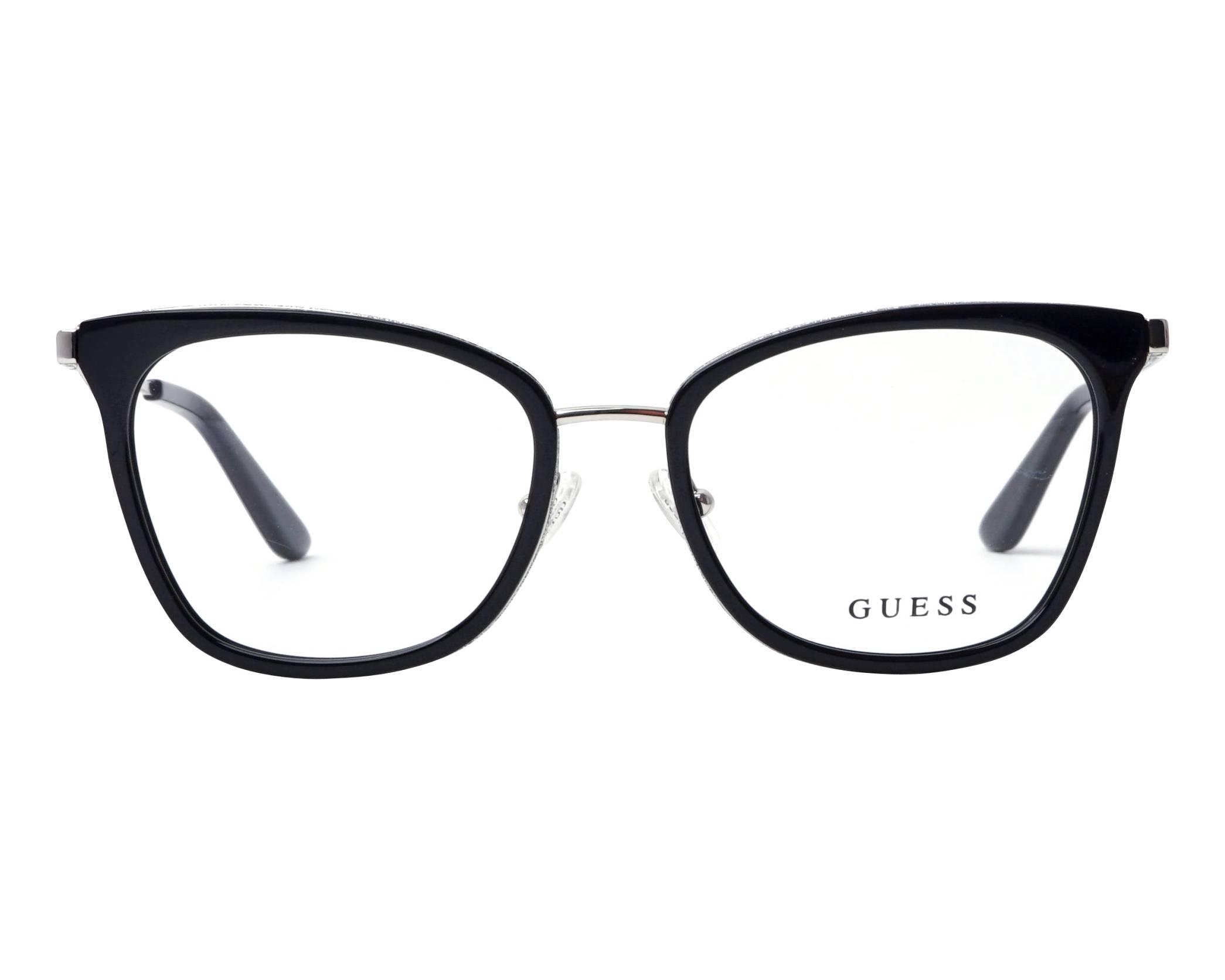2a0e3ef60f0 eyeglasses Guess GU-2706-V 001 52-17 Black Silver front view