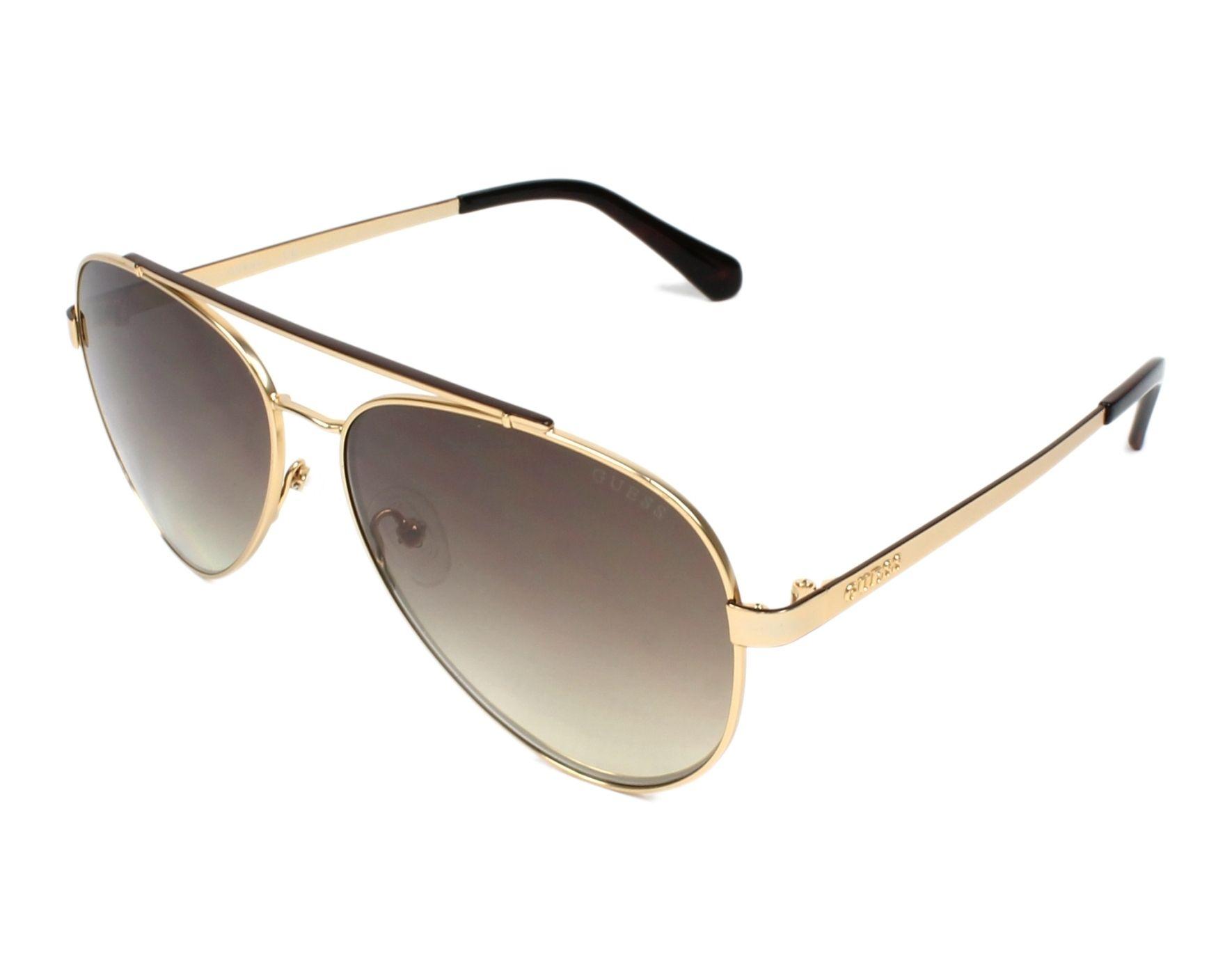 ae35a4e66e9 Sunglasses Guess GU-6918 32G 59-14 Gold profile view