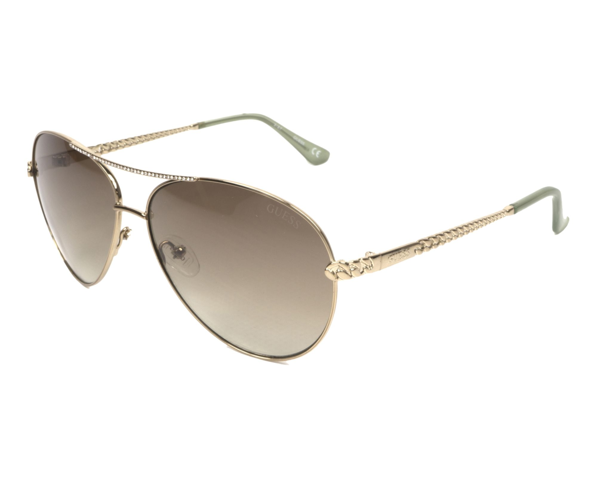 Sunglasses Guess GU-7470-S 32P 60-13 Gold Gold profile view 7da43e1641de
