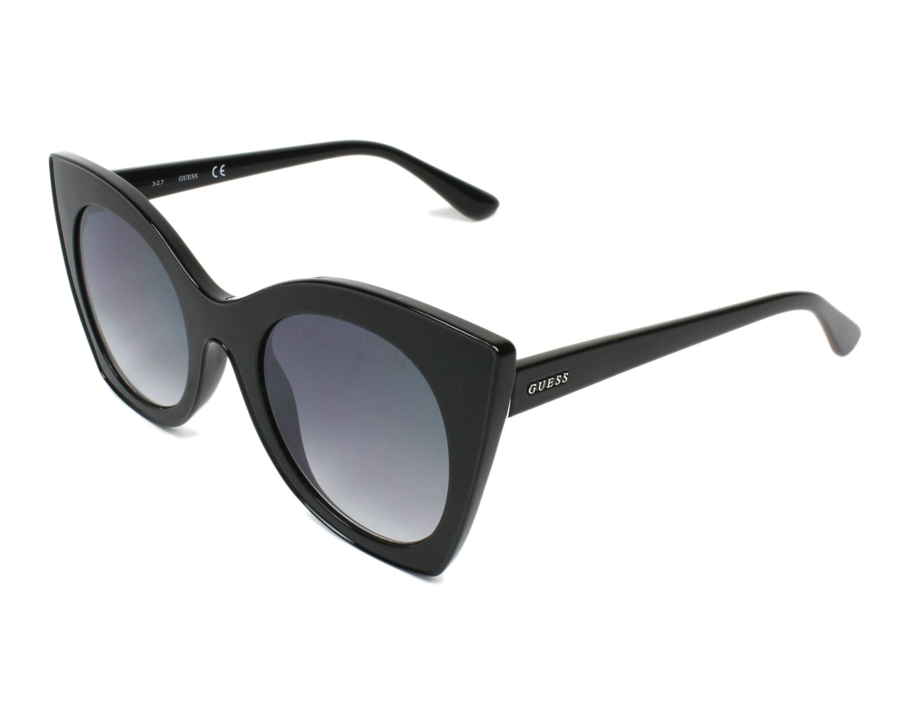 65fe3c5ae5991 Sunglasses Guess GU-7525 01B 51-23 Black profile view