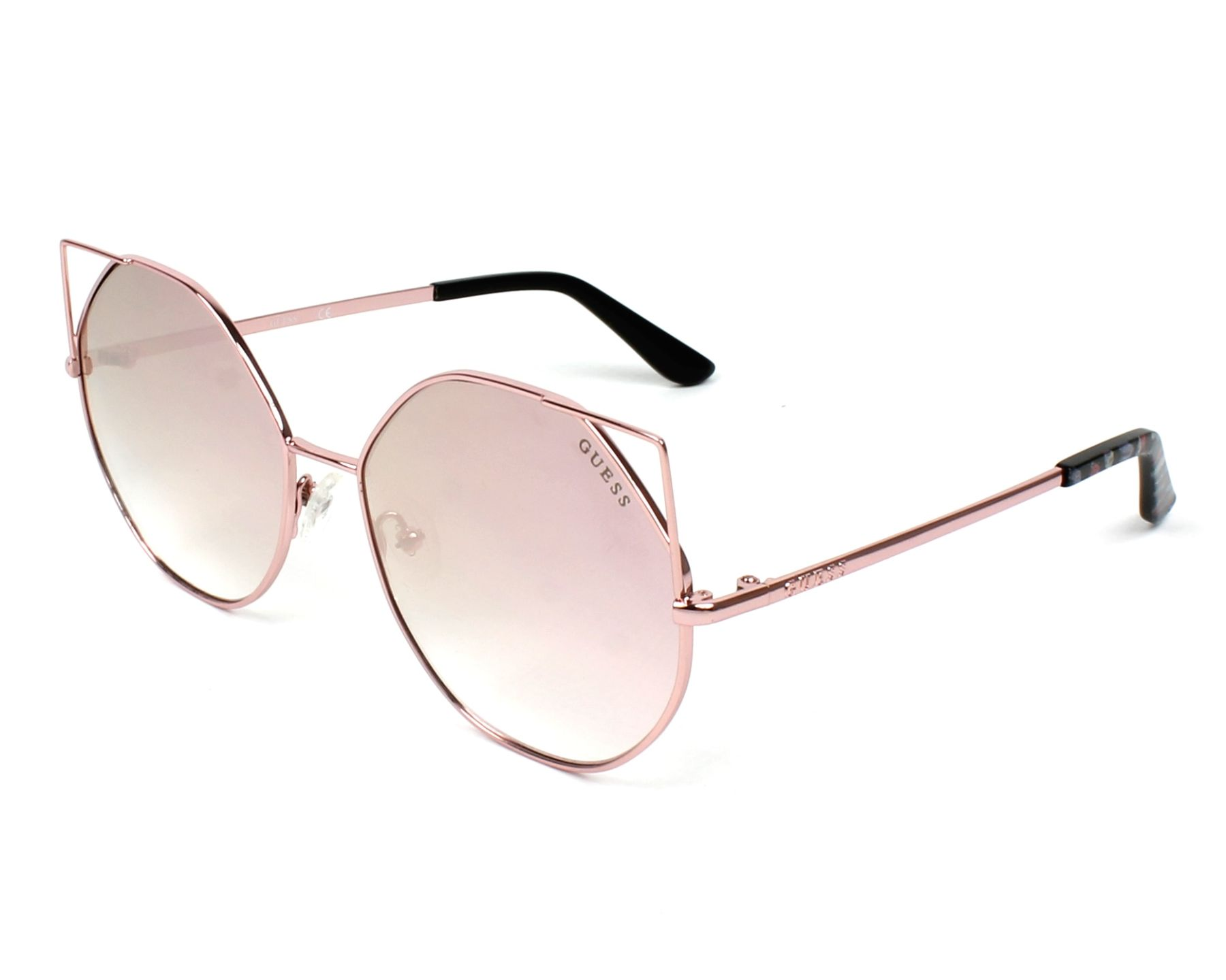 Guess Sunglasses Rose gold with Grey green Lenses GU-7527 28Z ...