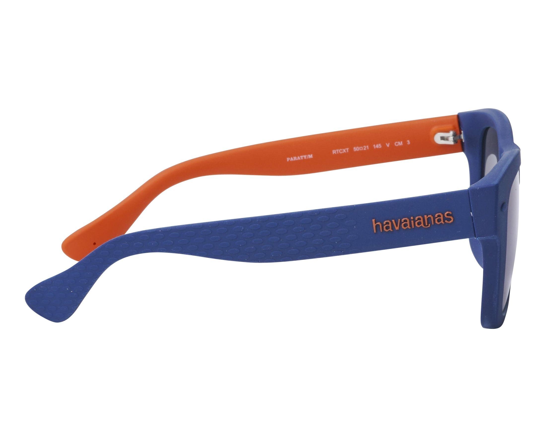 4f5e9e52ff5 Sunglasses Havaianas PARATY-M RTCXT 50-21 Blue Orange side view