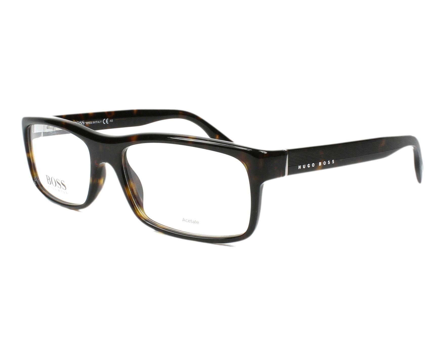 1ae27aebdbed6 eyeglasses Hugo Boss BOSS-0523 086 - Havana profile view
