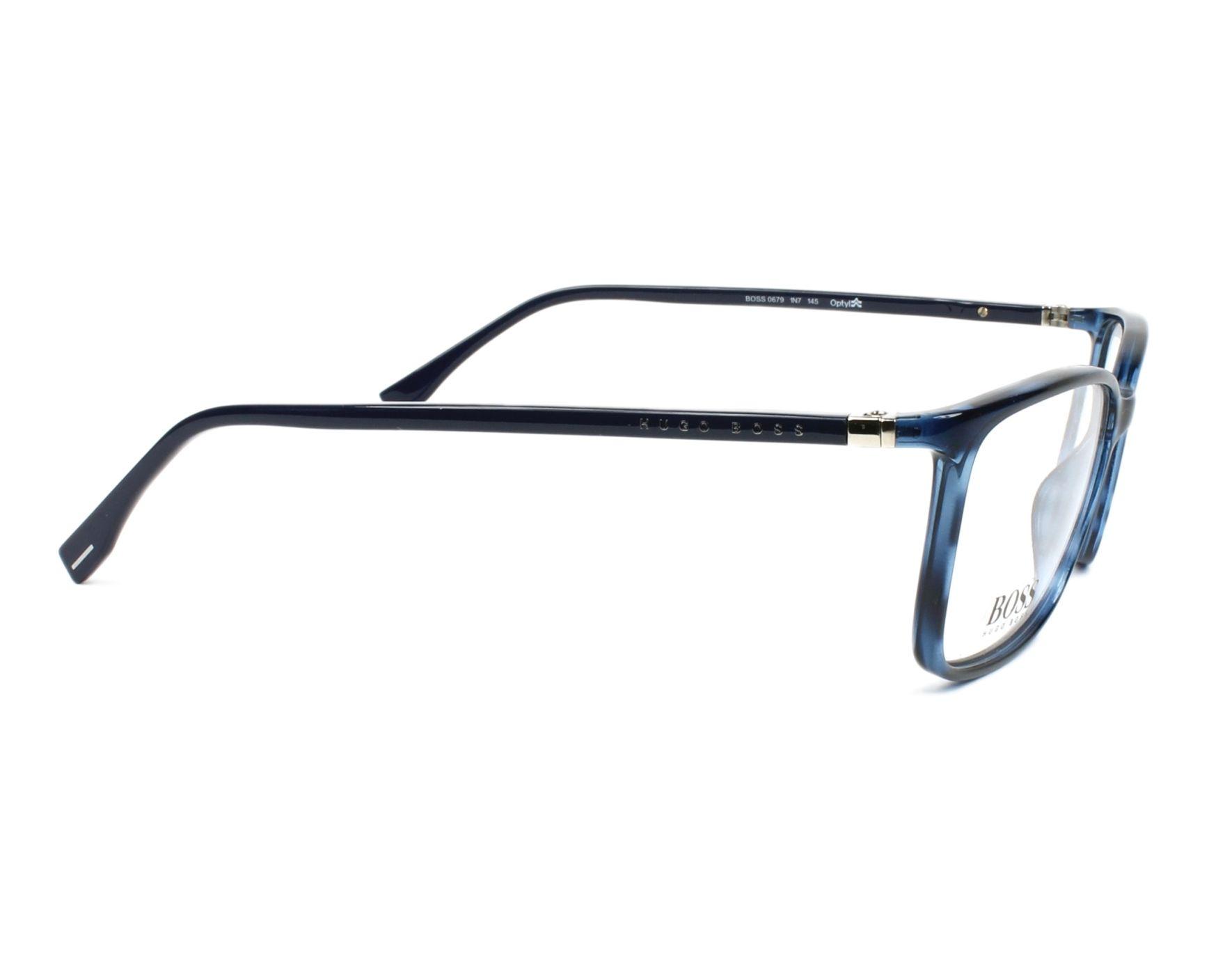 70a1cdd707f eyeglasses Hugo Boss BOSS-0679 38I 56-15 Blue side view