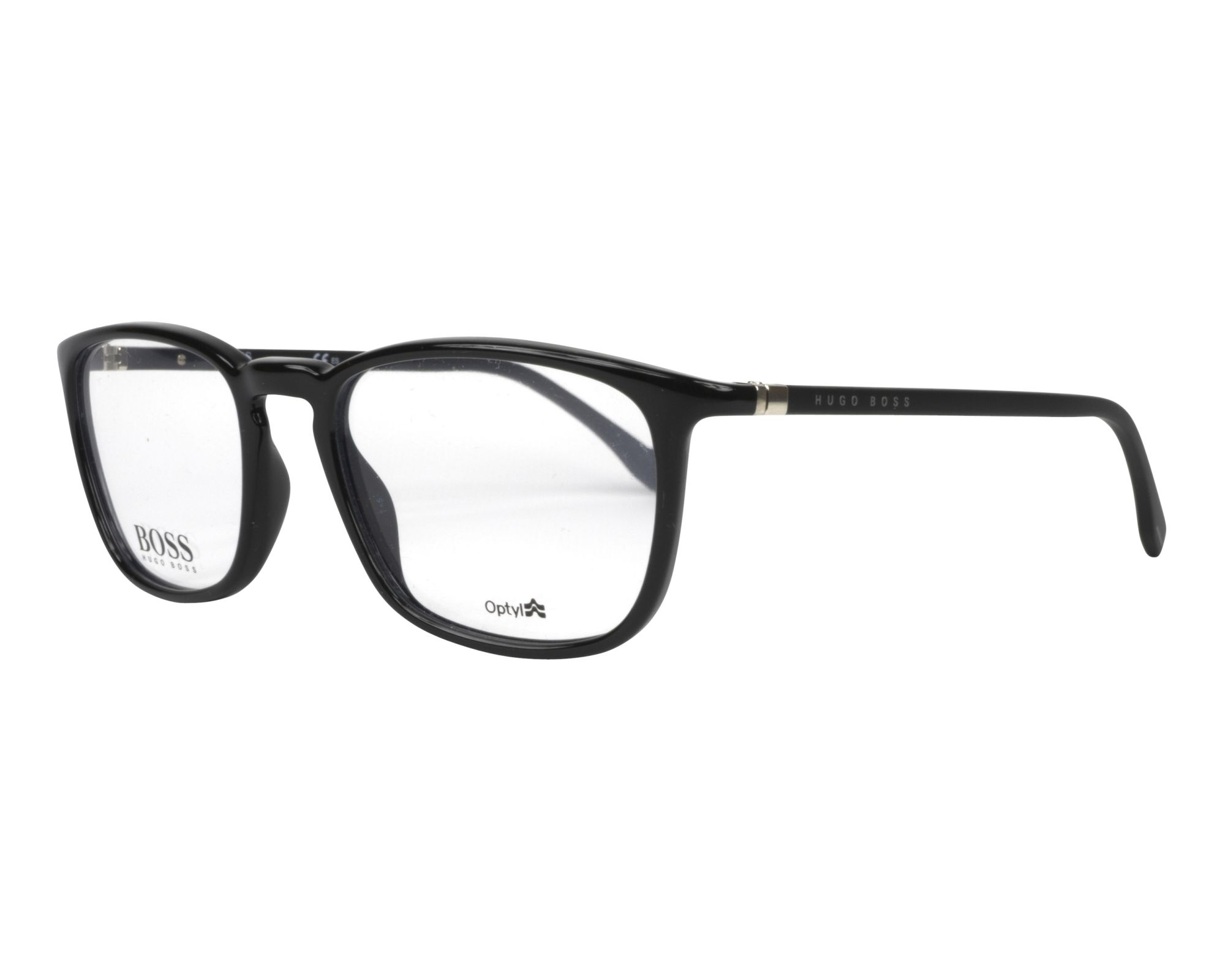 8d8012bd49d eyeglasses Hugo Boss BOSS-0961 807 51-18 Black Black profile view
