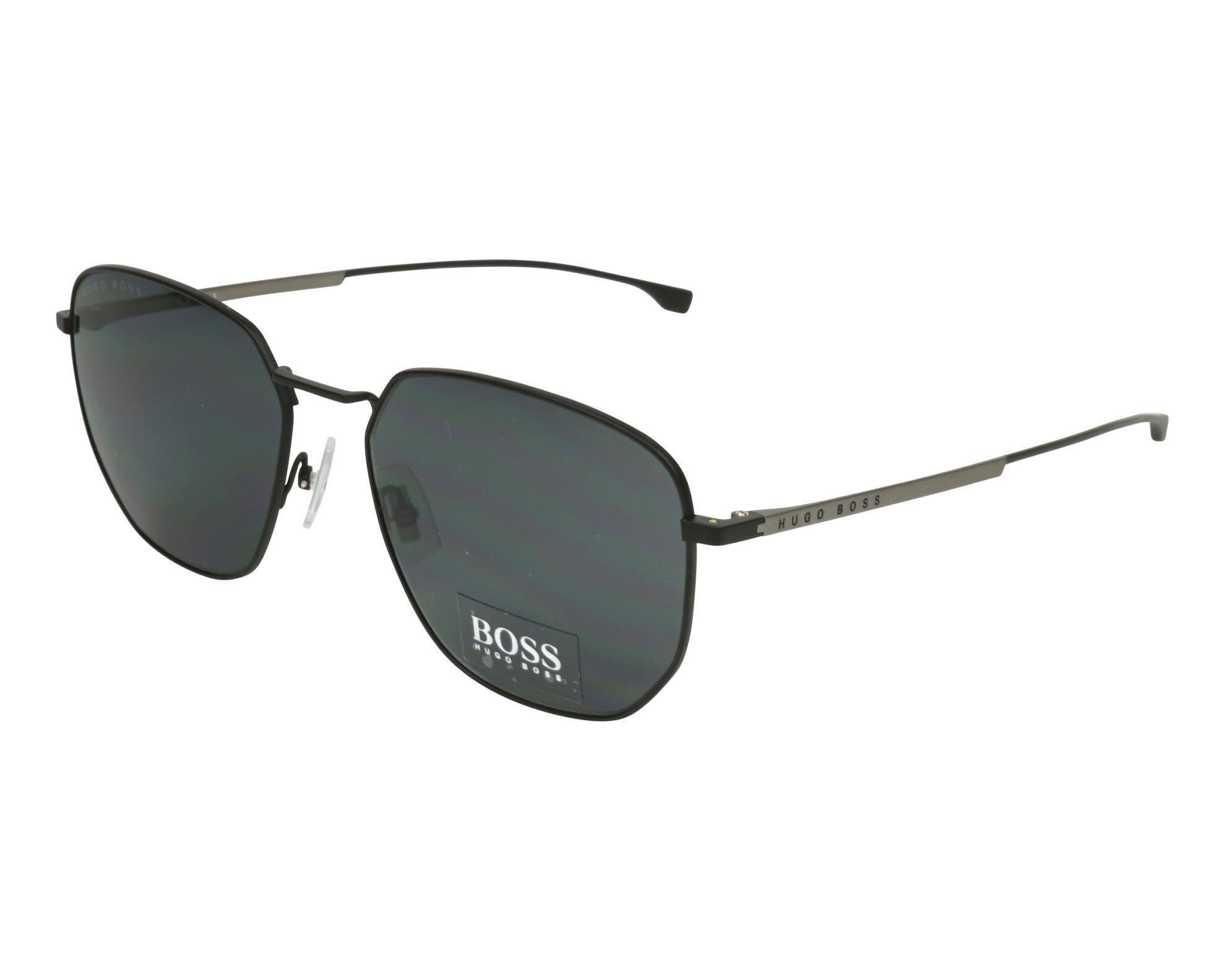 ee342b6882 Sunglasses Hugo Boss BOSS-0992-F-S 003 IR 58-18 Black Silver