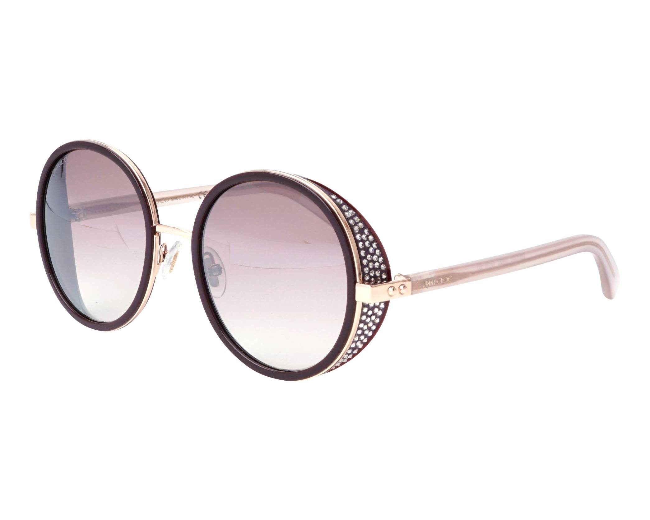 d85dbd12ef3b Sunglasses Jimmy Choo ANDIE-N-S OT7NQ 54-21 Plum Rose gold profile view