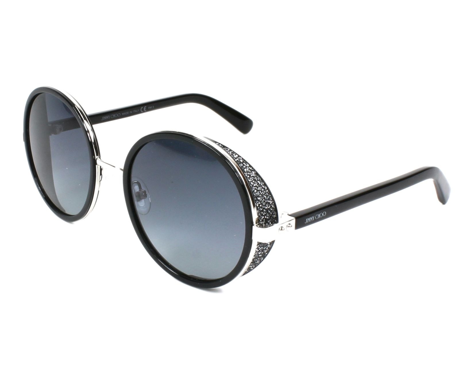 450adc5dc98b thumbnail Sunglasses Jimmy Choo ANDIE-S B1A HD - Black Silver profile view