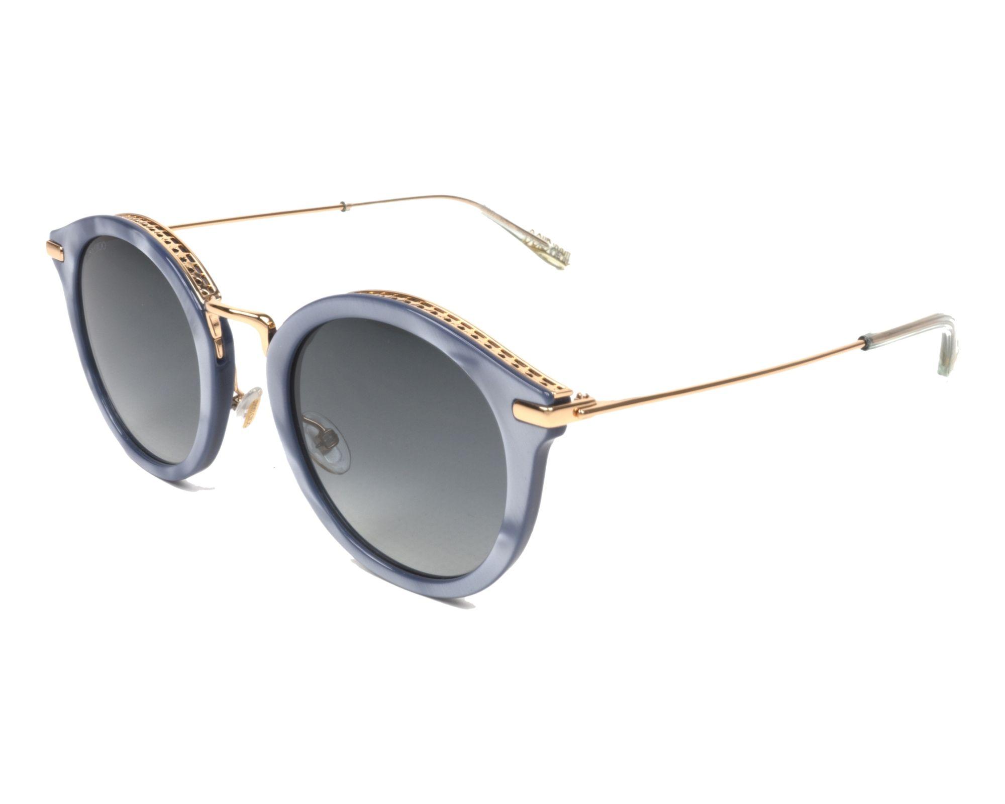 Jimmy Choo Sunglasses Grey with Blue Grey Lenses BOBBY-S JAG/9O ...