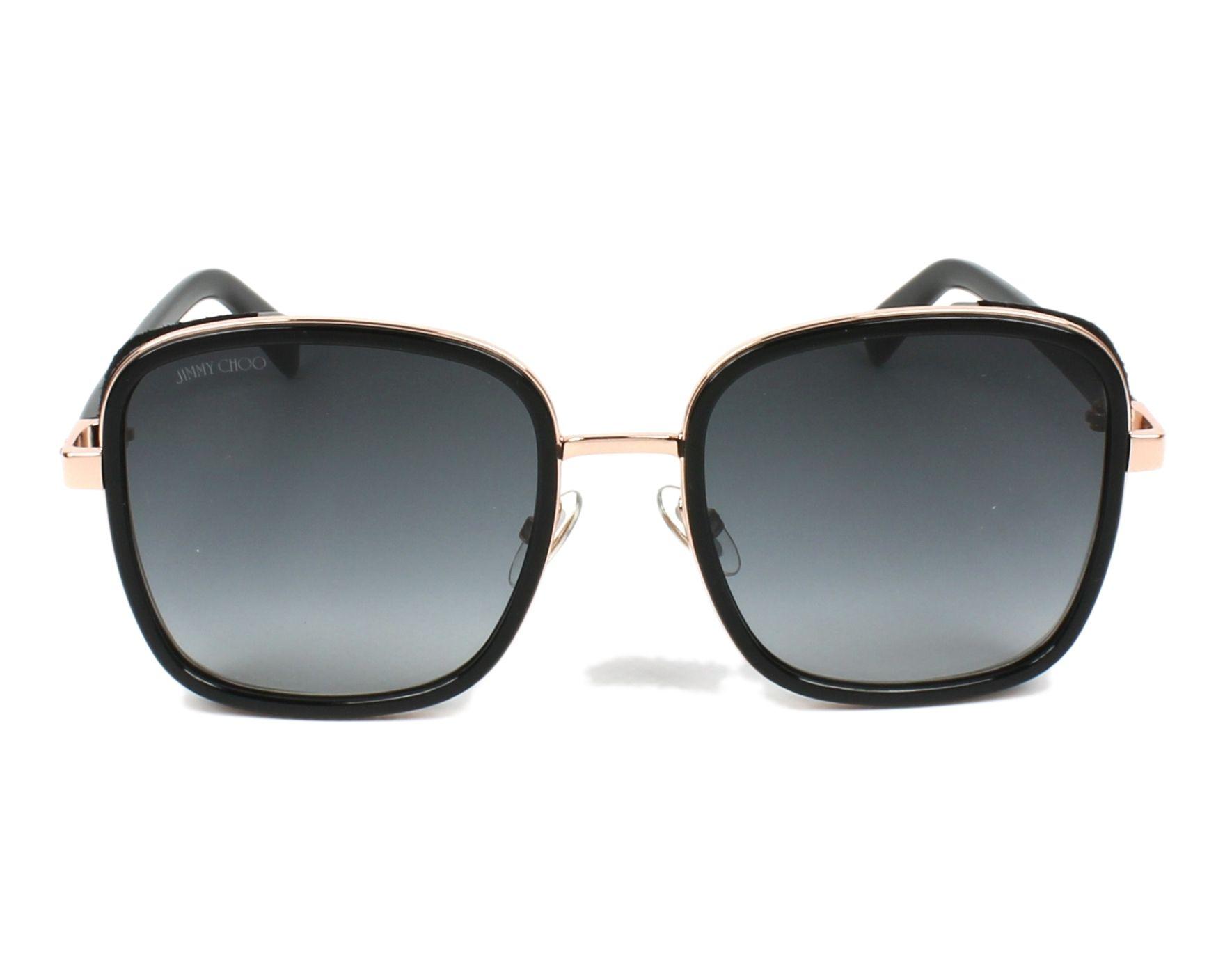27d5df5b3655 Sunglasses Jimmy Choo ELVA-S 2M2 90 54-20 Black Gold Copper front