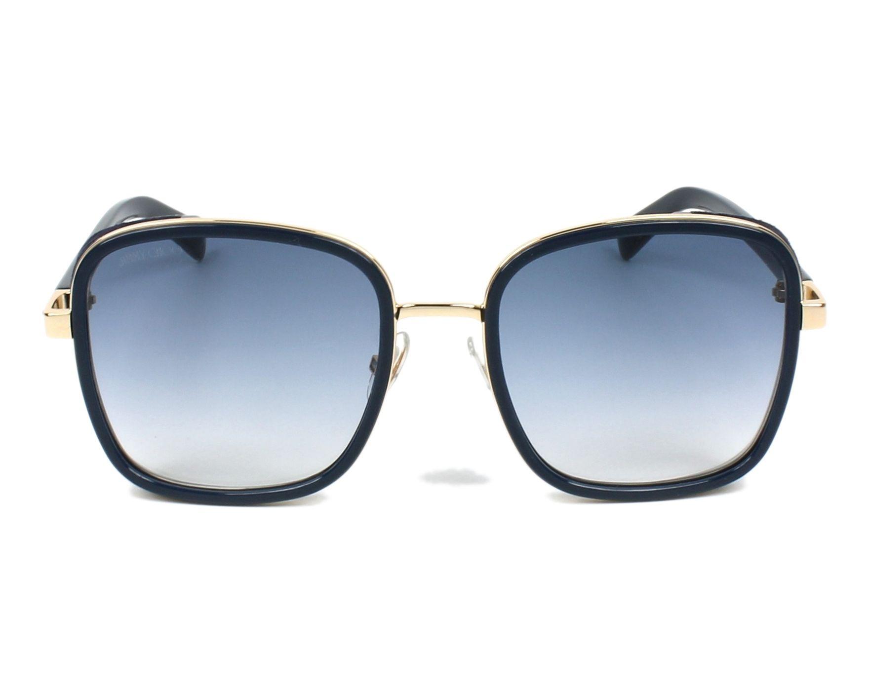 4a44d6122874 thumbnail Sunglasses Jimmy Choo ELVA-S KY2 08 - Blue Gold front view